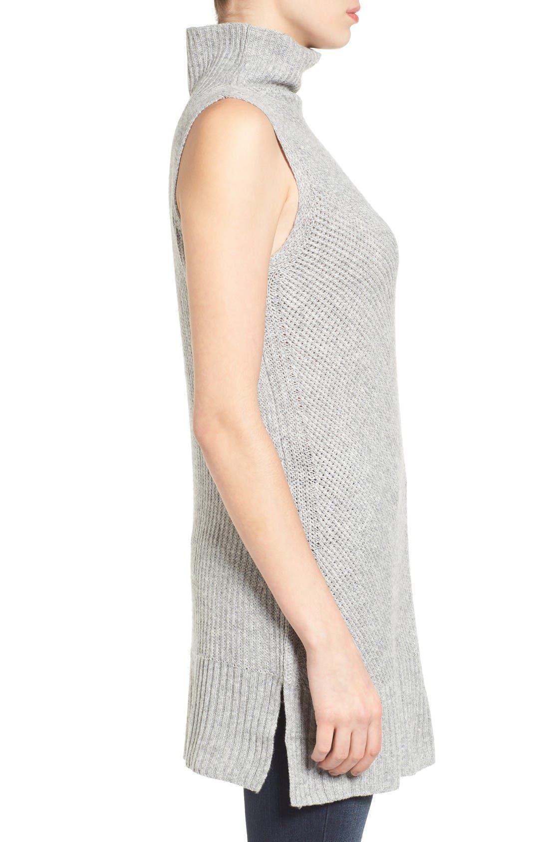 Alternate Image 3  - Halogen® Sleeveless Tunic Sweater (Regular & Petite)