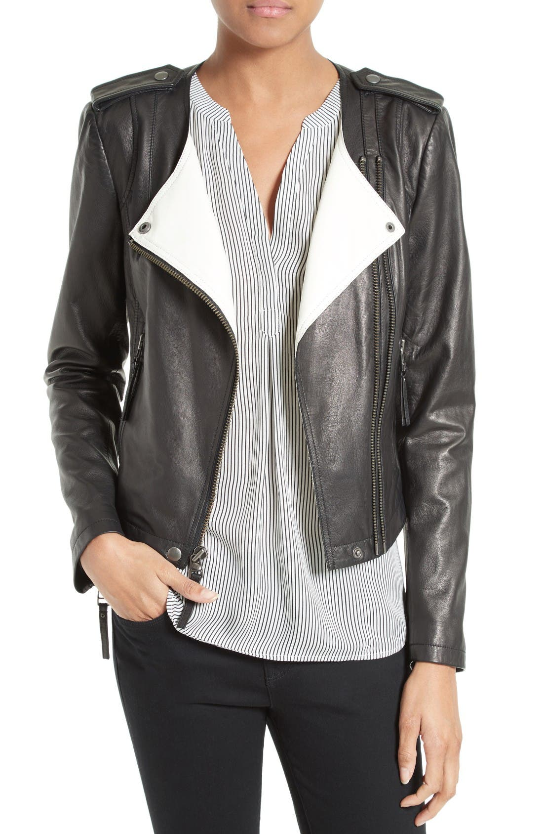 JOIE Benicia Leather Jacket