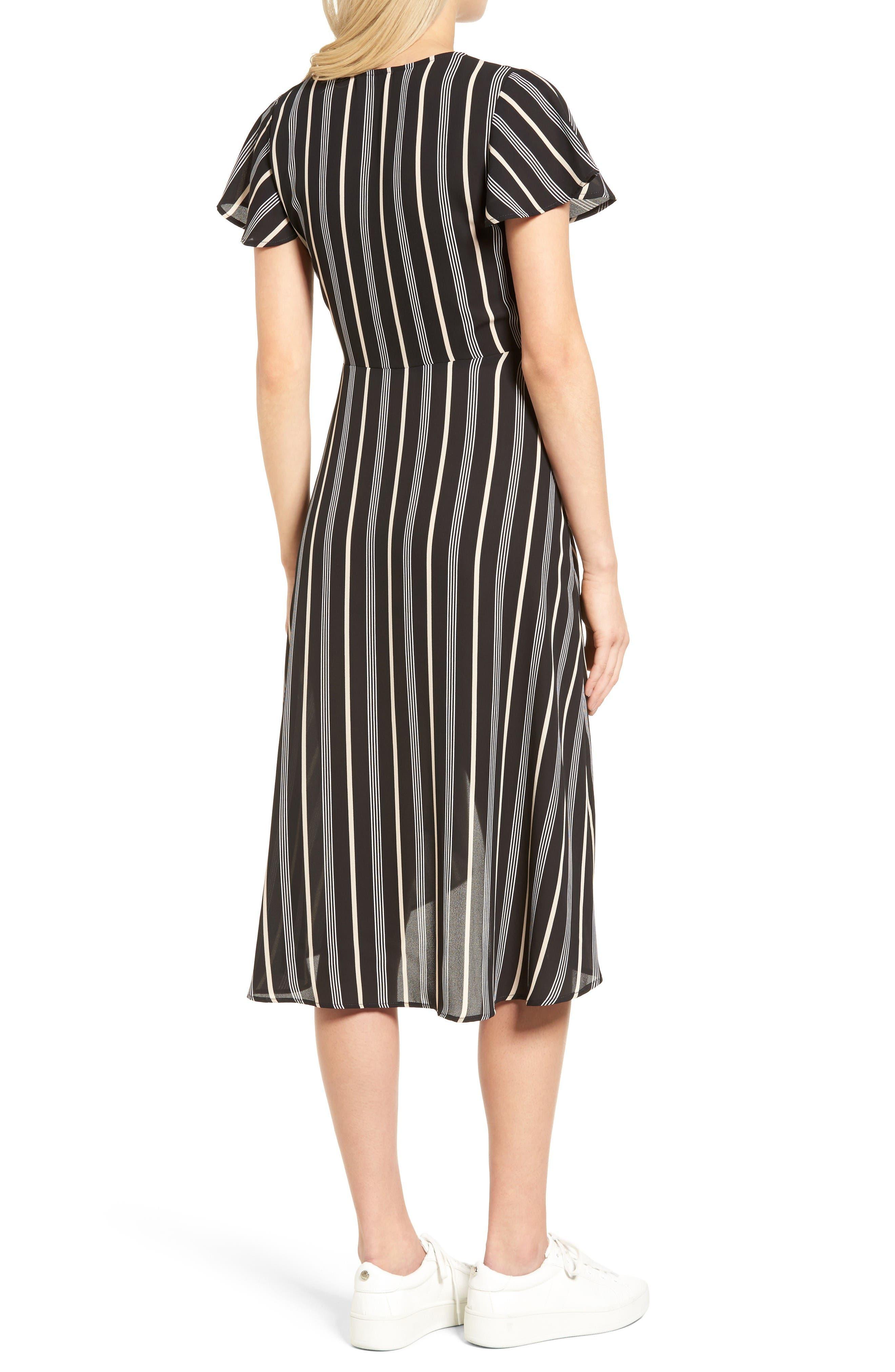 Alternate Image 2  - Socialite Stripe Midi Wrap Dress