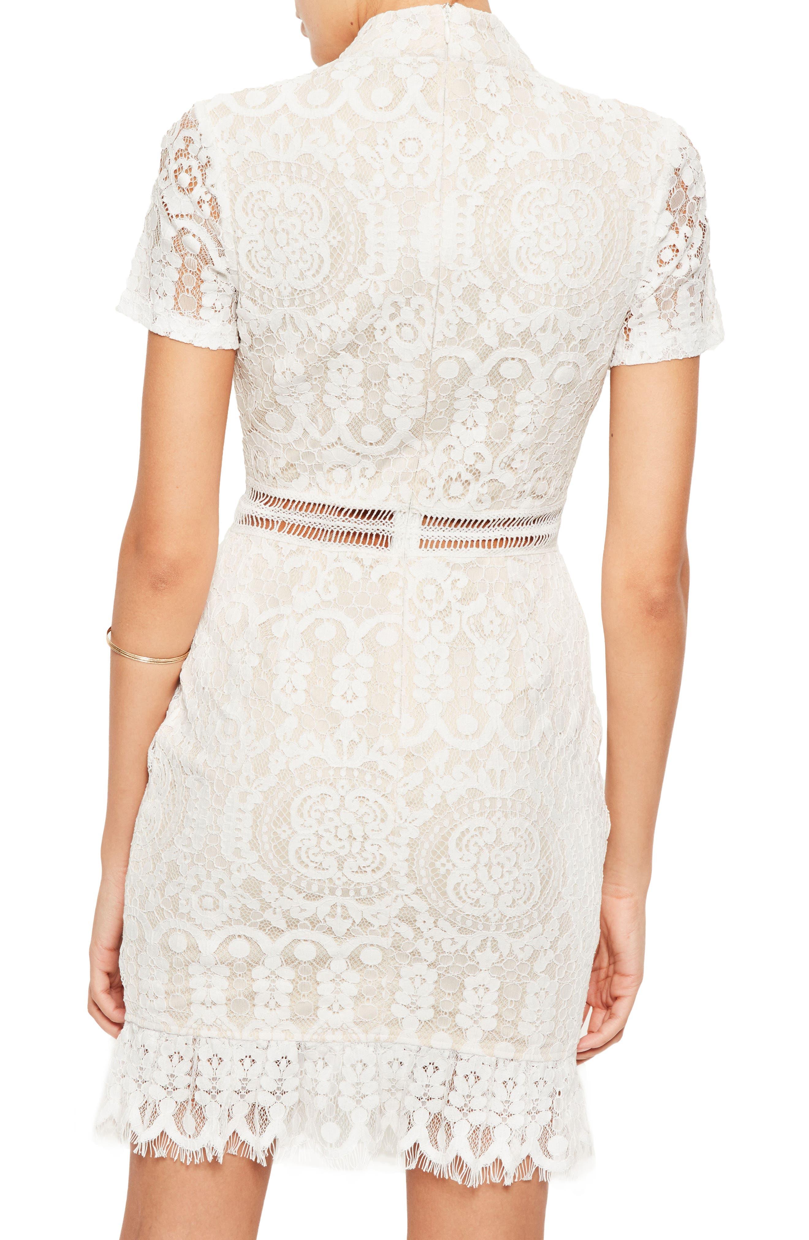 Alternate Image 2  - Missguided Ladder Stitch Lace Dress