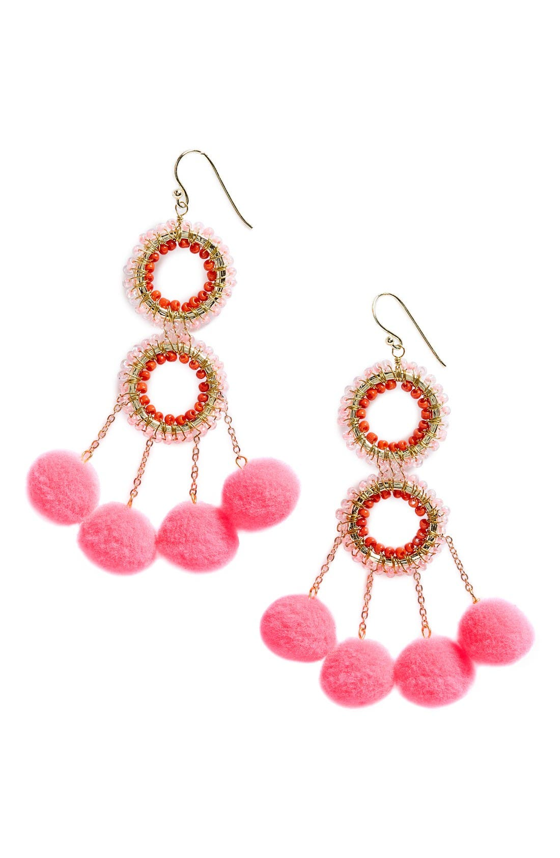 Panacea Pompom Statement Earrings
