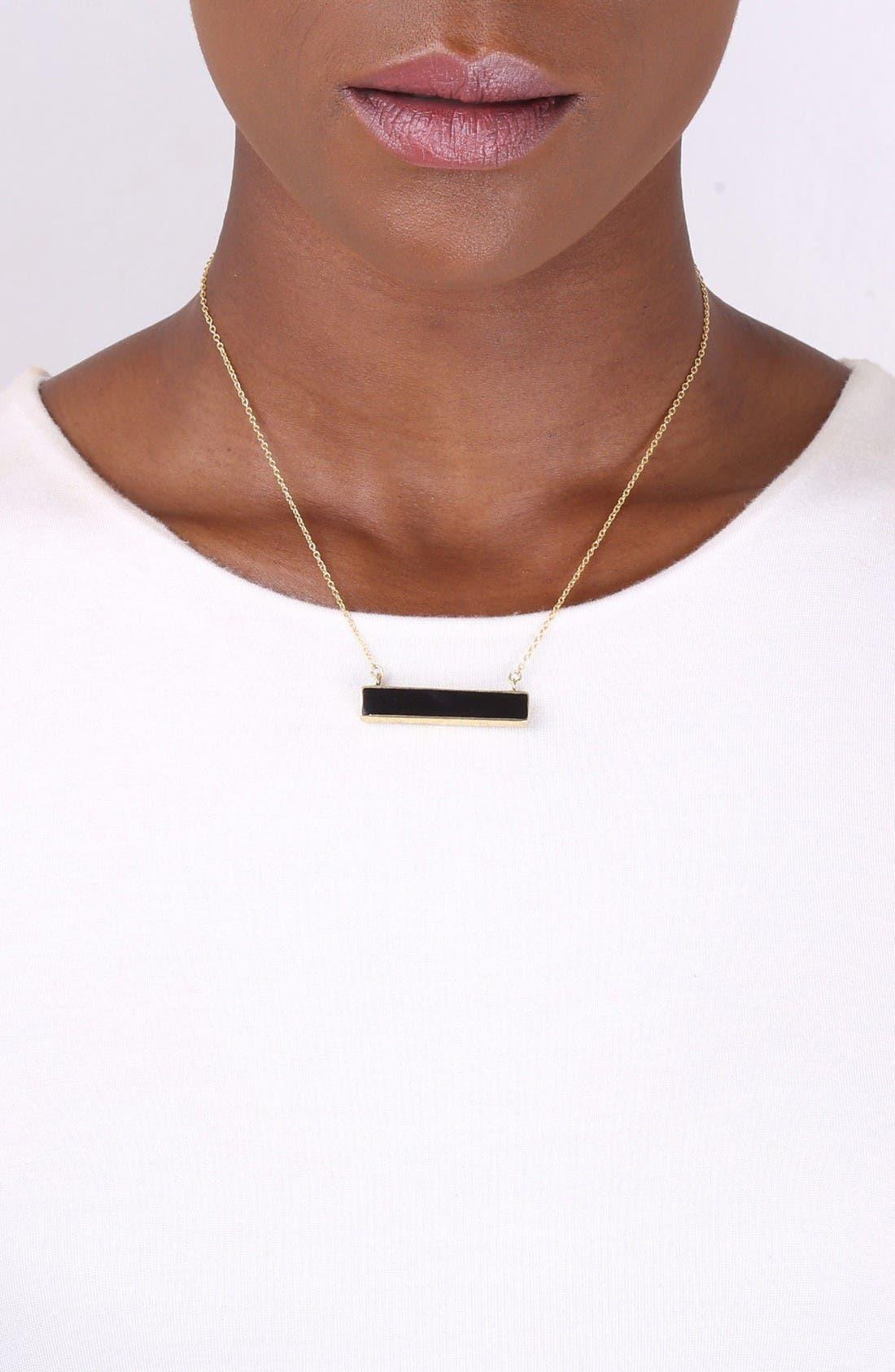 Alternate Image 3  - Soko Horizontal Horn Bar Pendant Necklace