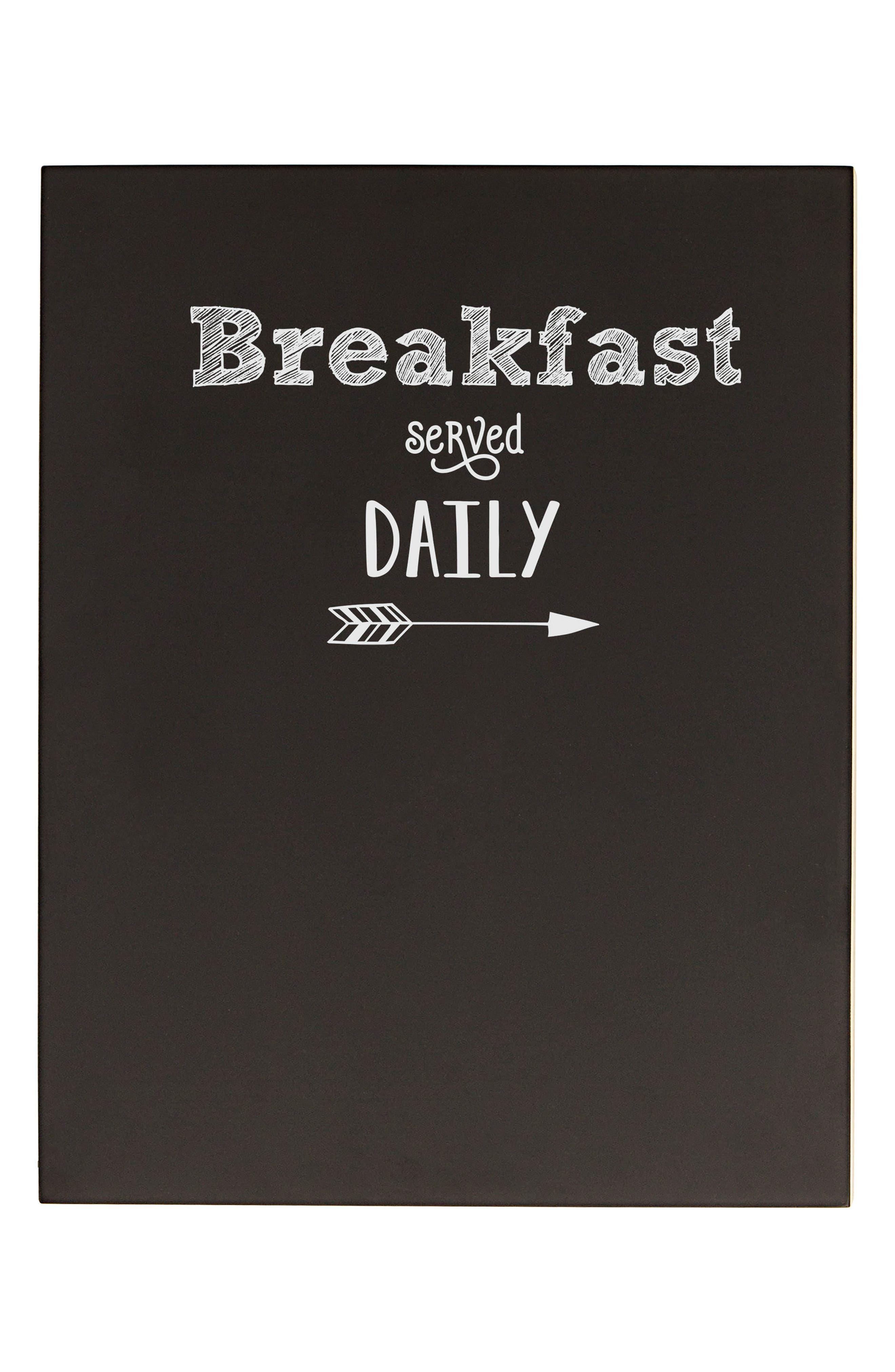 CATHY'S CONCEPTS Breakfast Menu Chalkboard