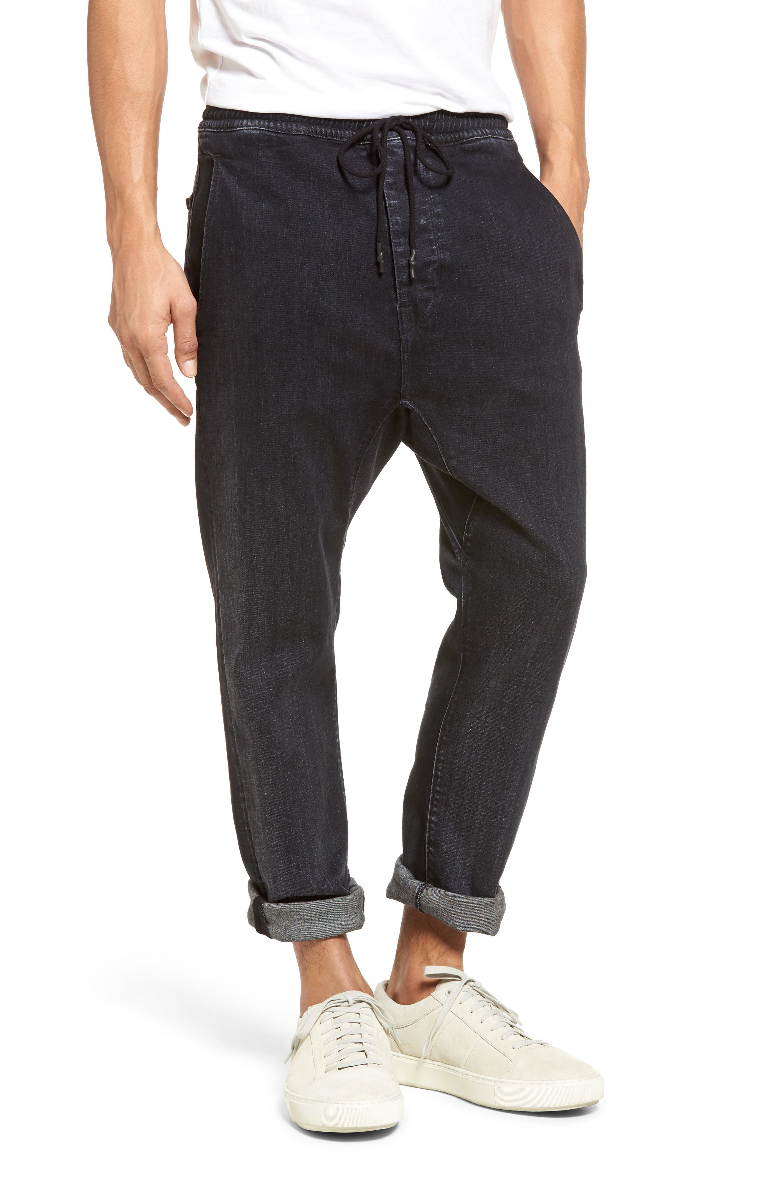 Vince Drop Crotch Drawstring Jeans