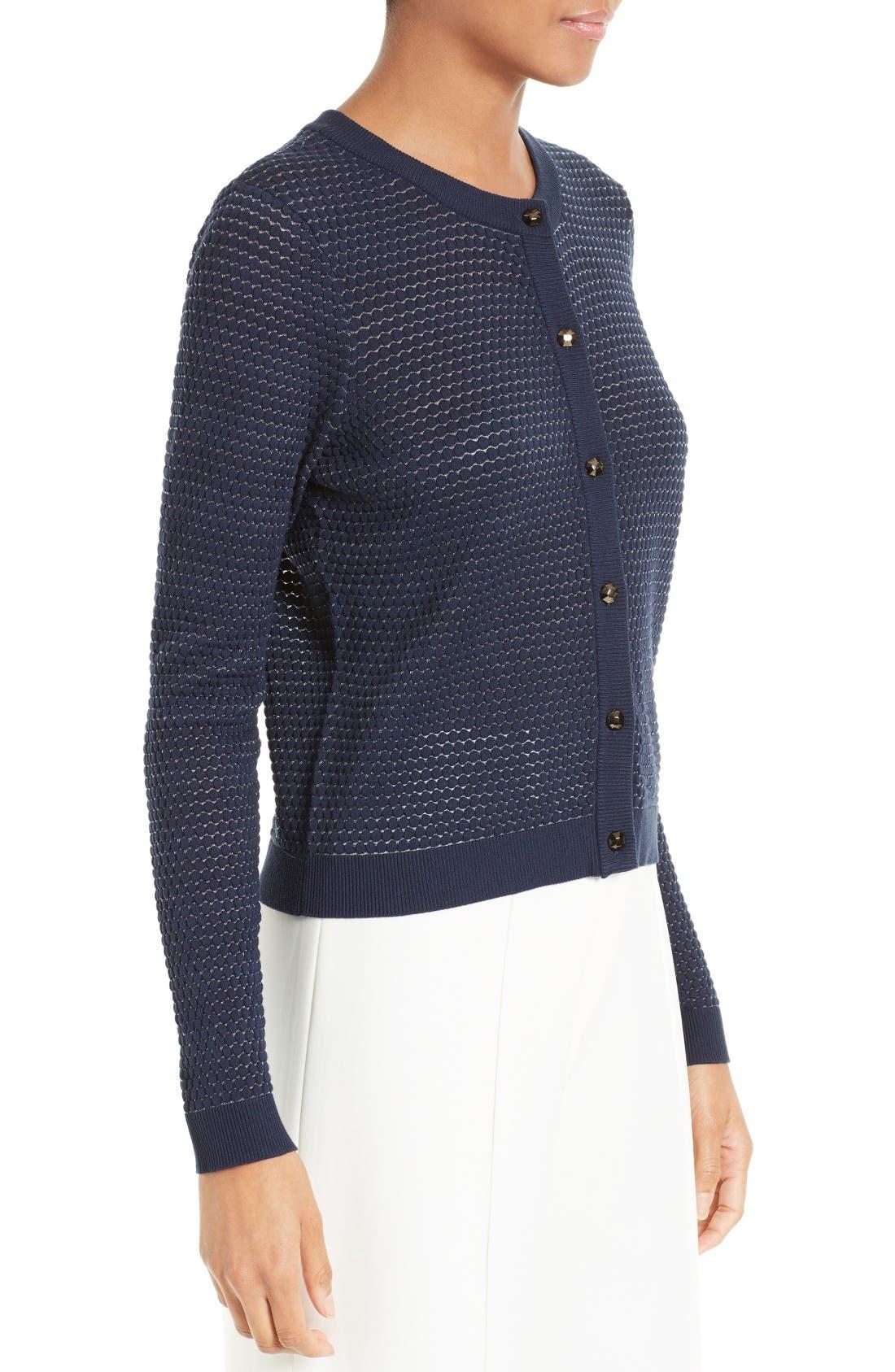 Alternate Image 3  - Milly Hexagon Knit Cardigan