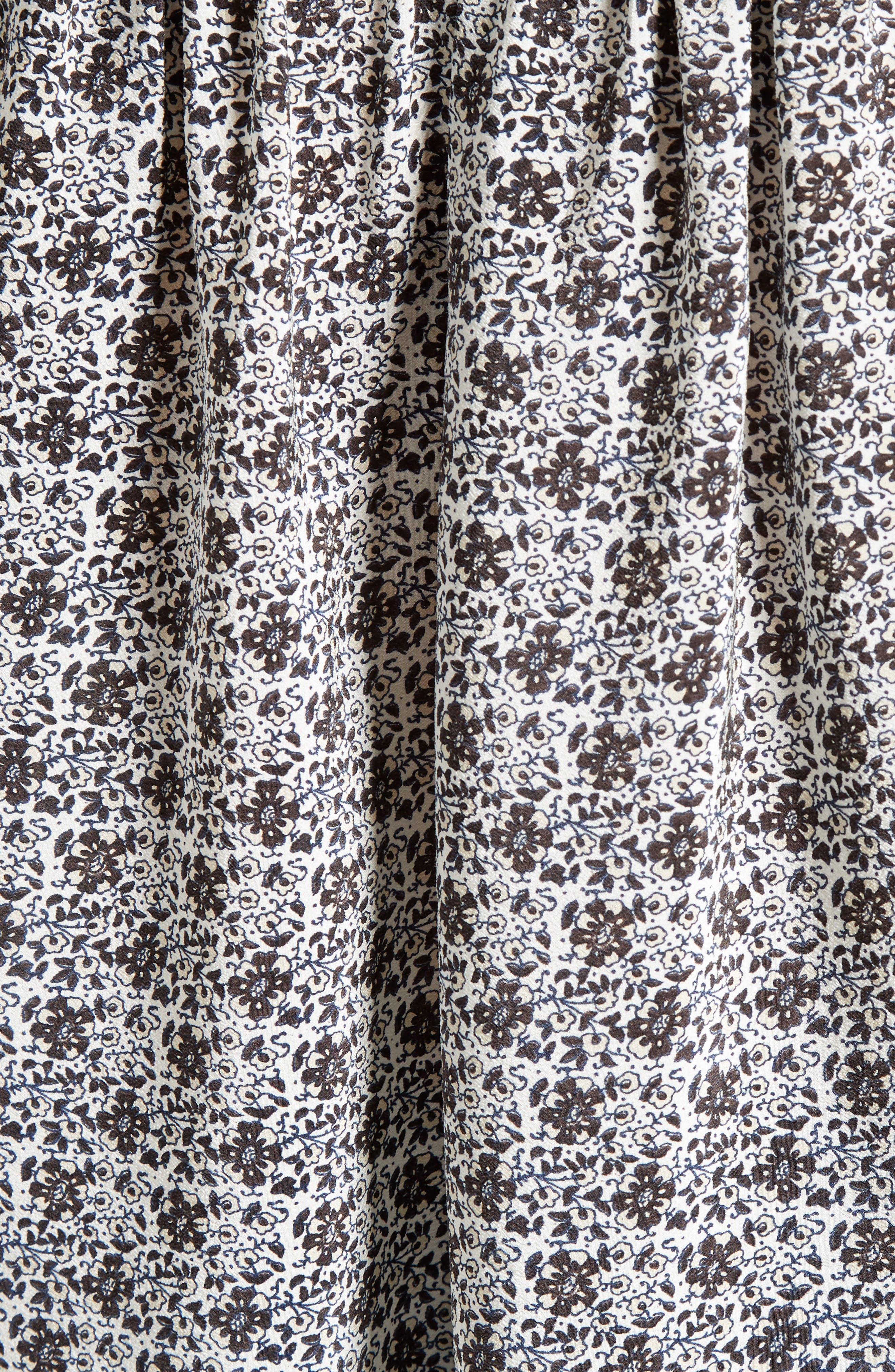 Alternate Image 5  - Sea Camelia Print Silk Blouse