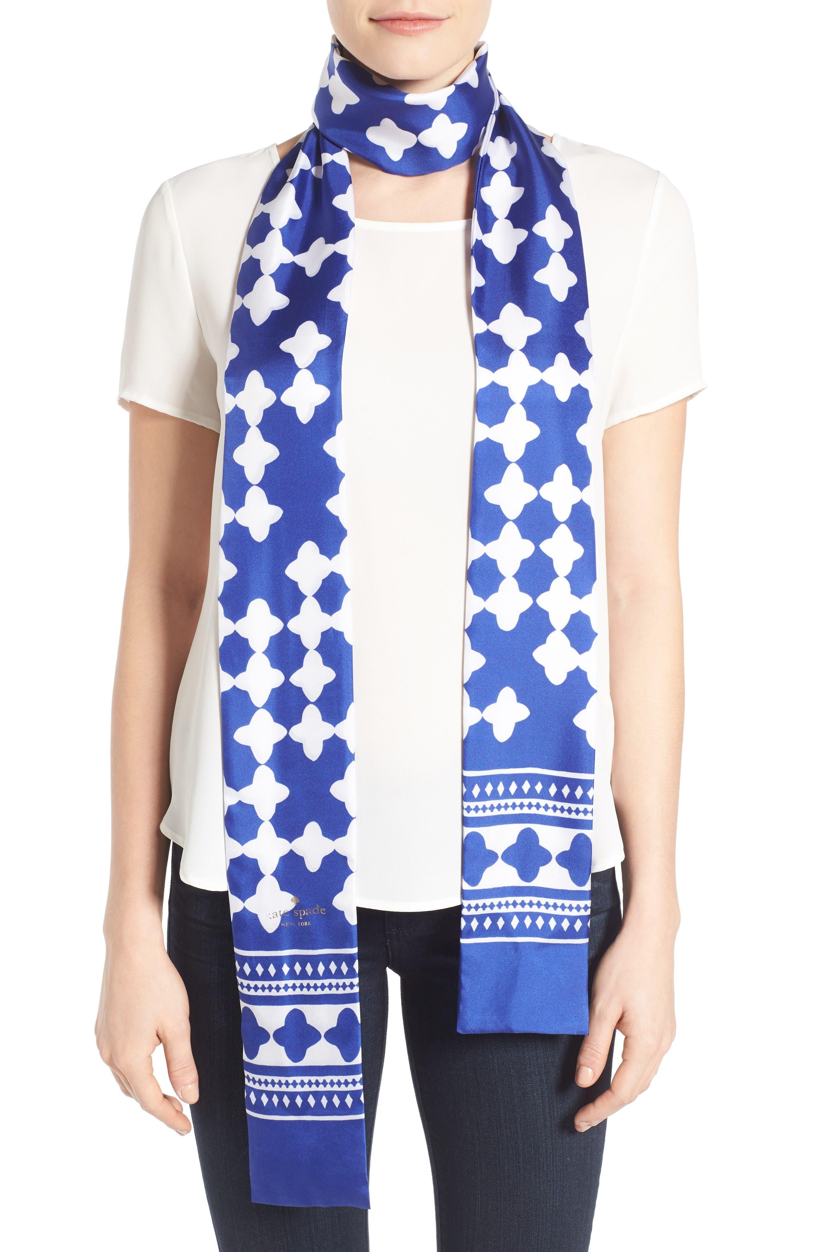 KATE SPADE NEW YORK lantern long skinny scarf