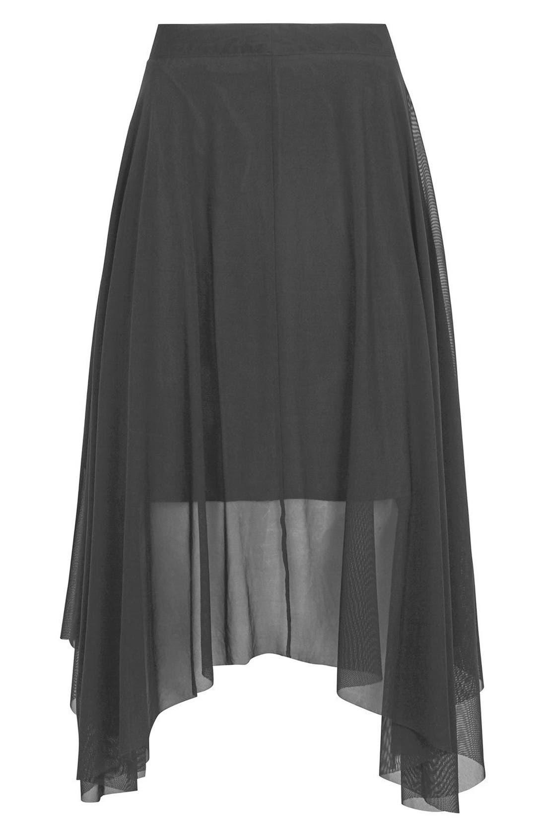 Alternate Image 5  - Topshop Tulle Midi Skirt