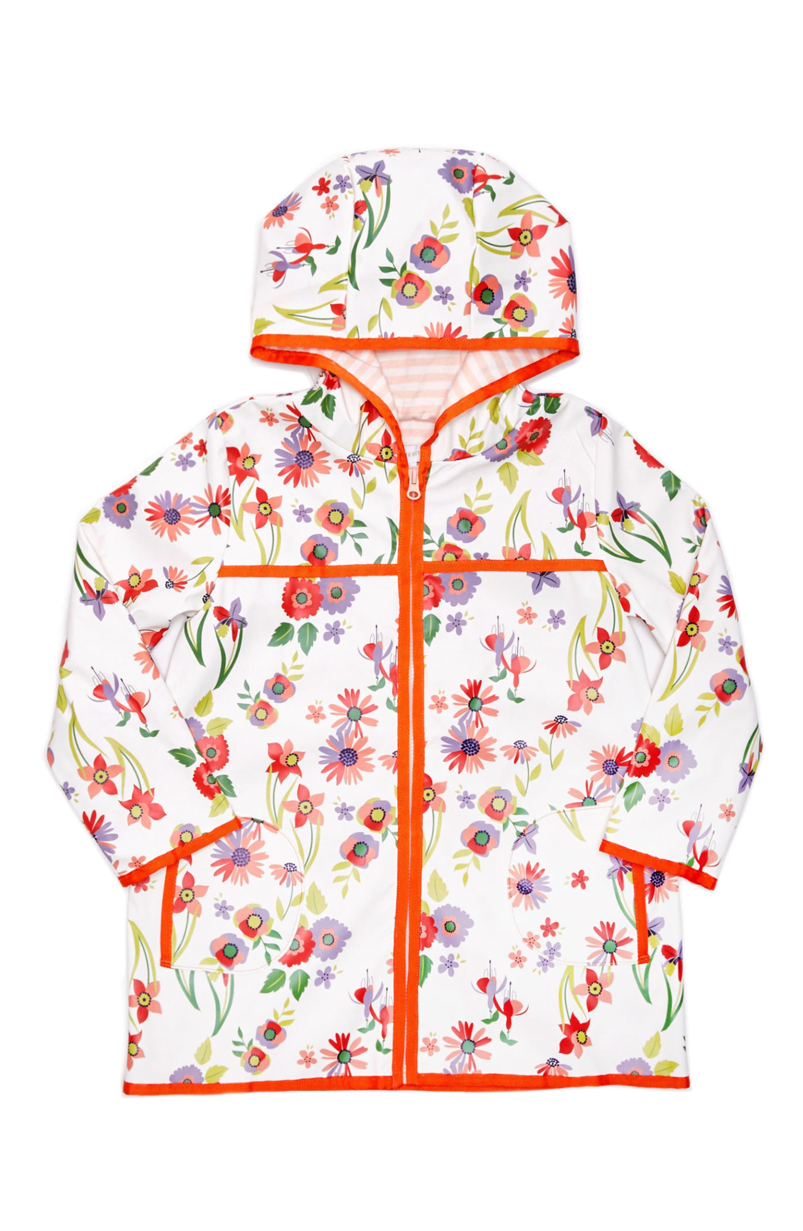 Margherita Wildflower Print Raincoat (Toddler Girls, Little Girls & Big Girls)