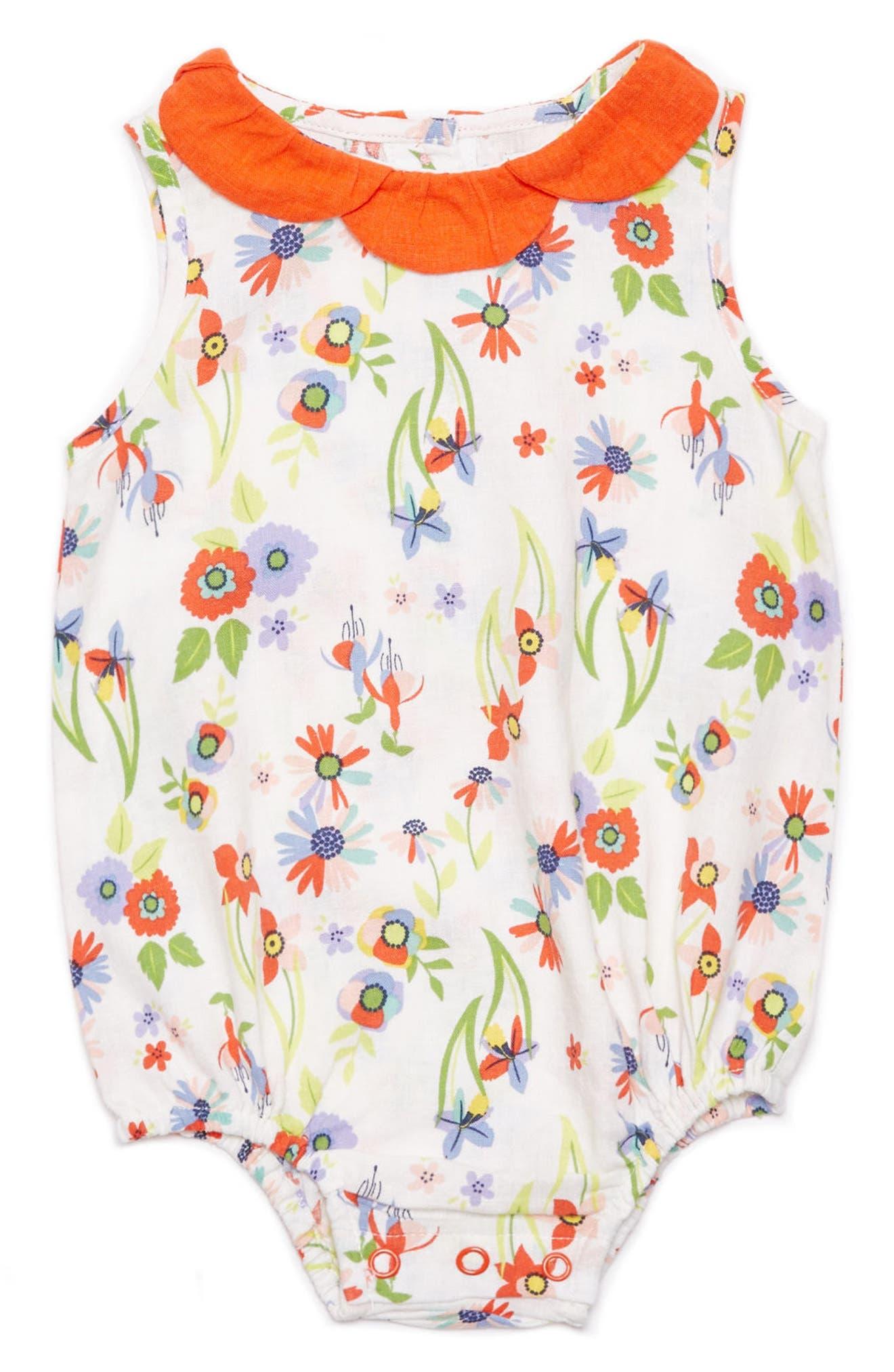 Margherita Floral Print Bubble Bodysuit (Baby Girls)