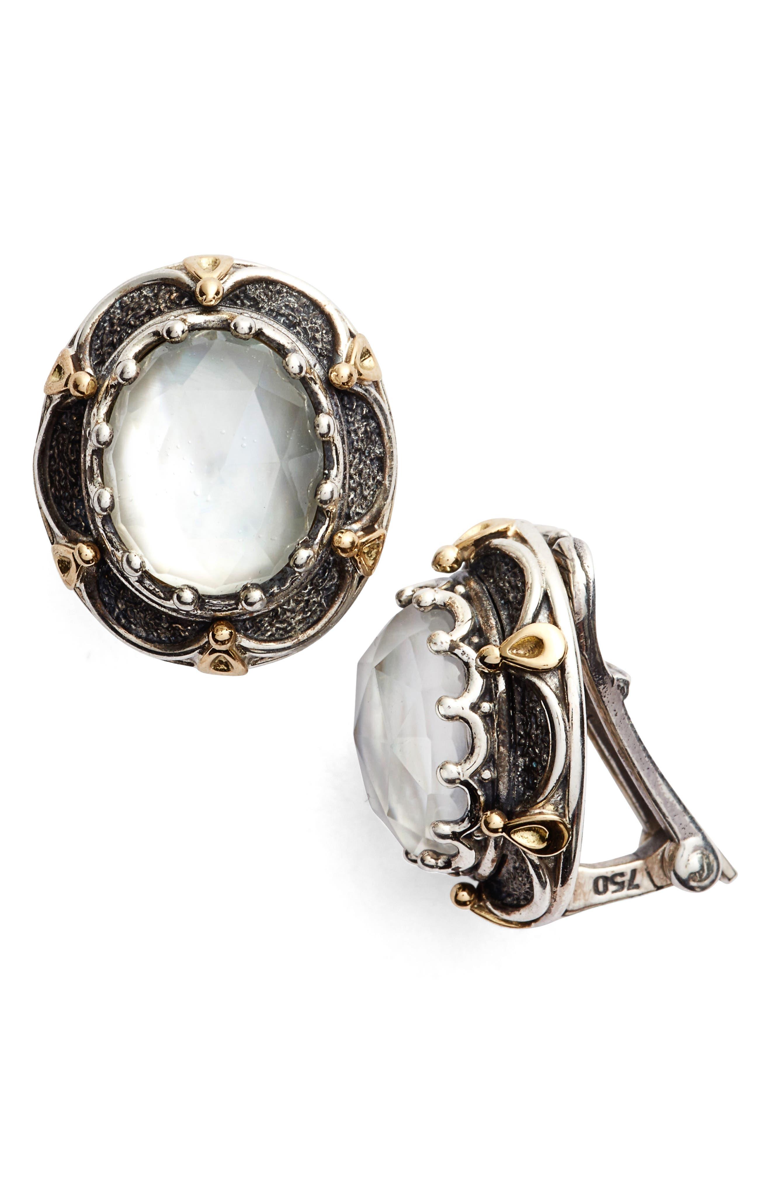 KONSTANTINO Semiprecious Stone Clip Earrings