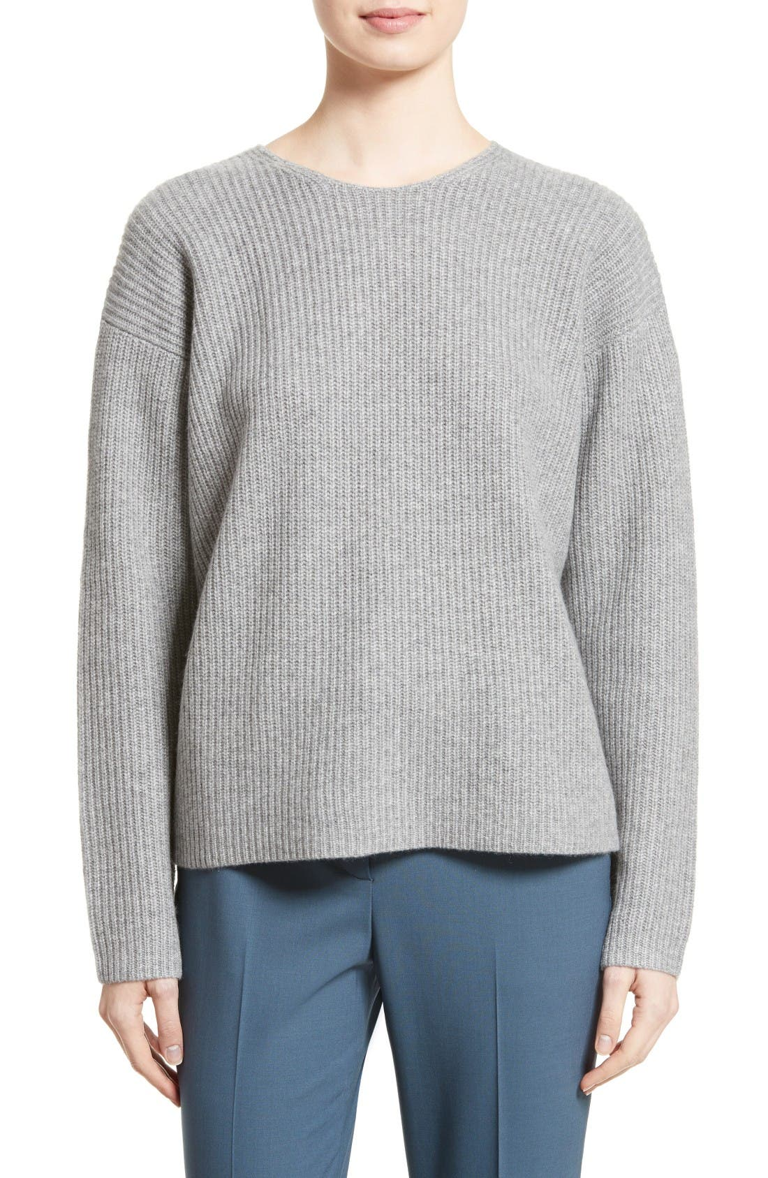 Alternate Image 1 Selected - Theory Twylina Split Back Cashmere Sweater