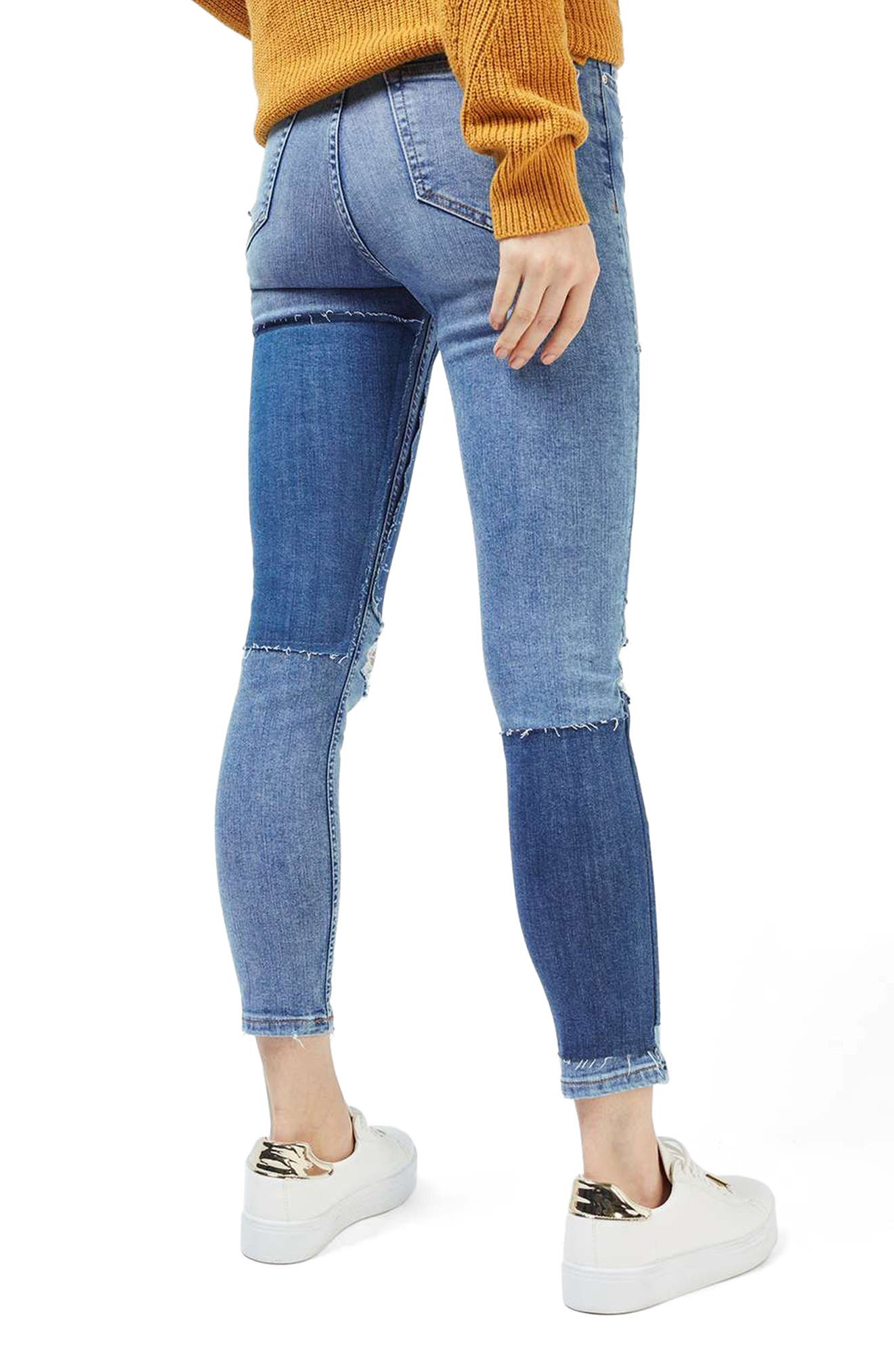 Alternate Image 3  - Topshop Moto Jamie Rip Panel Skinny Jeans