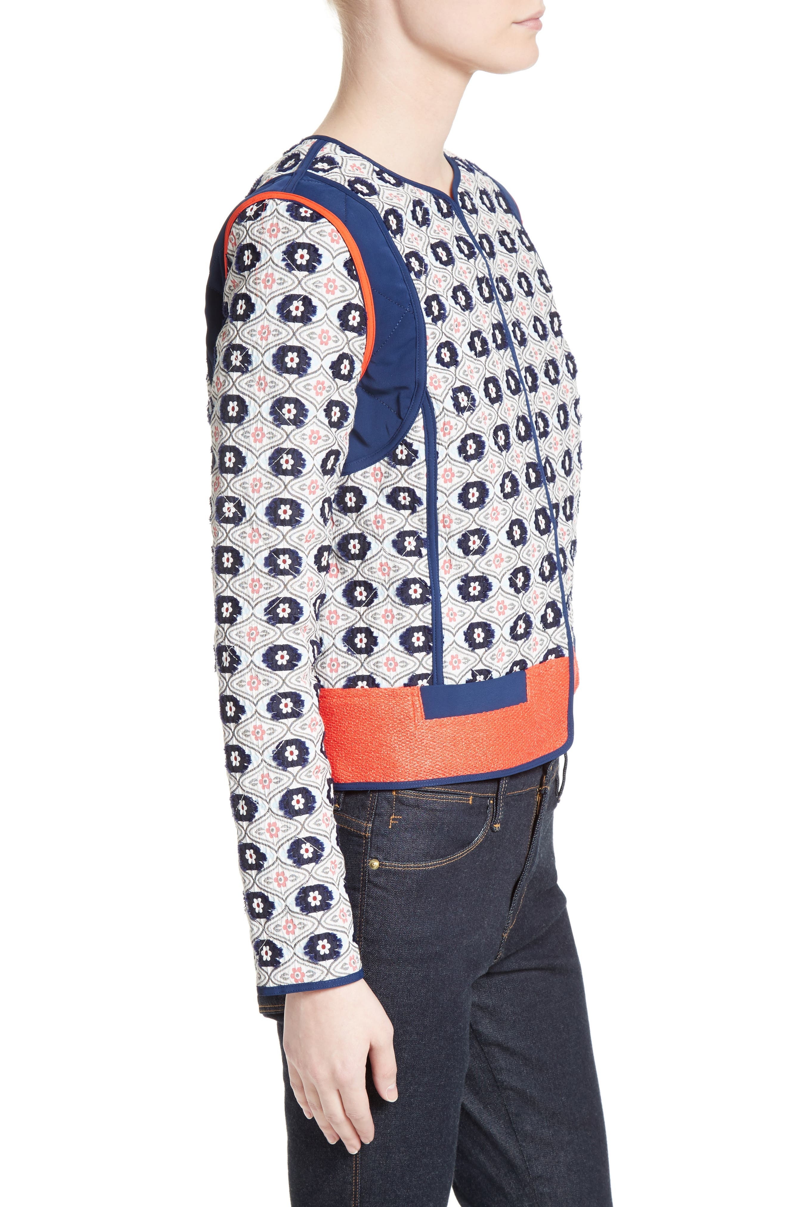 Alternate Image 3  - Tory Burch Rainford Clip Jacquard Quilted Jacket