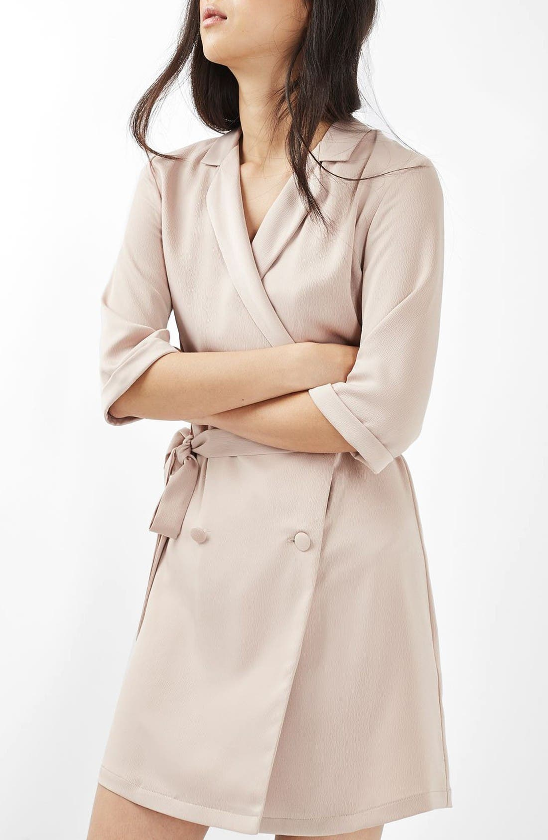 Main Image - Topshop Double Breasted Wrap Dress