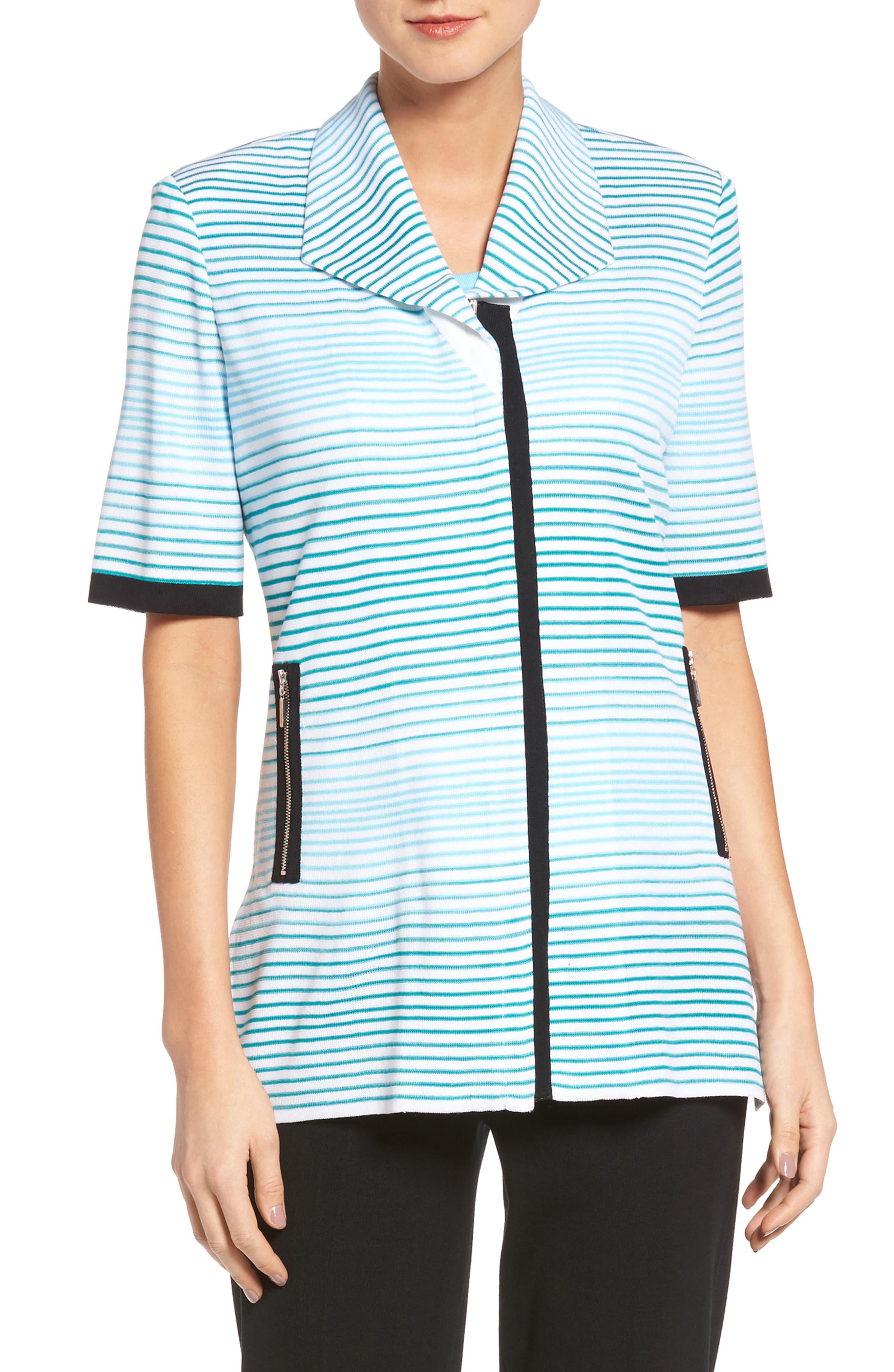 Ming Wang Stripe Knit Jacket