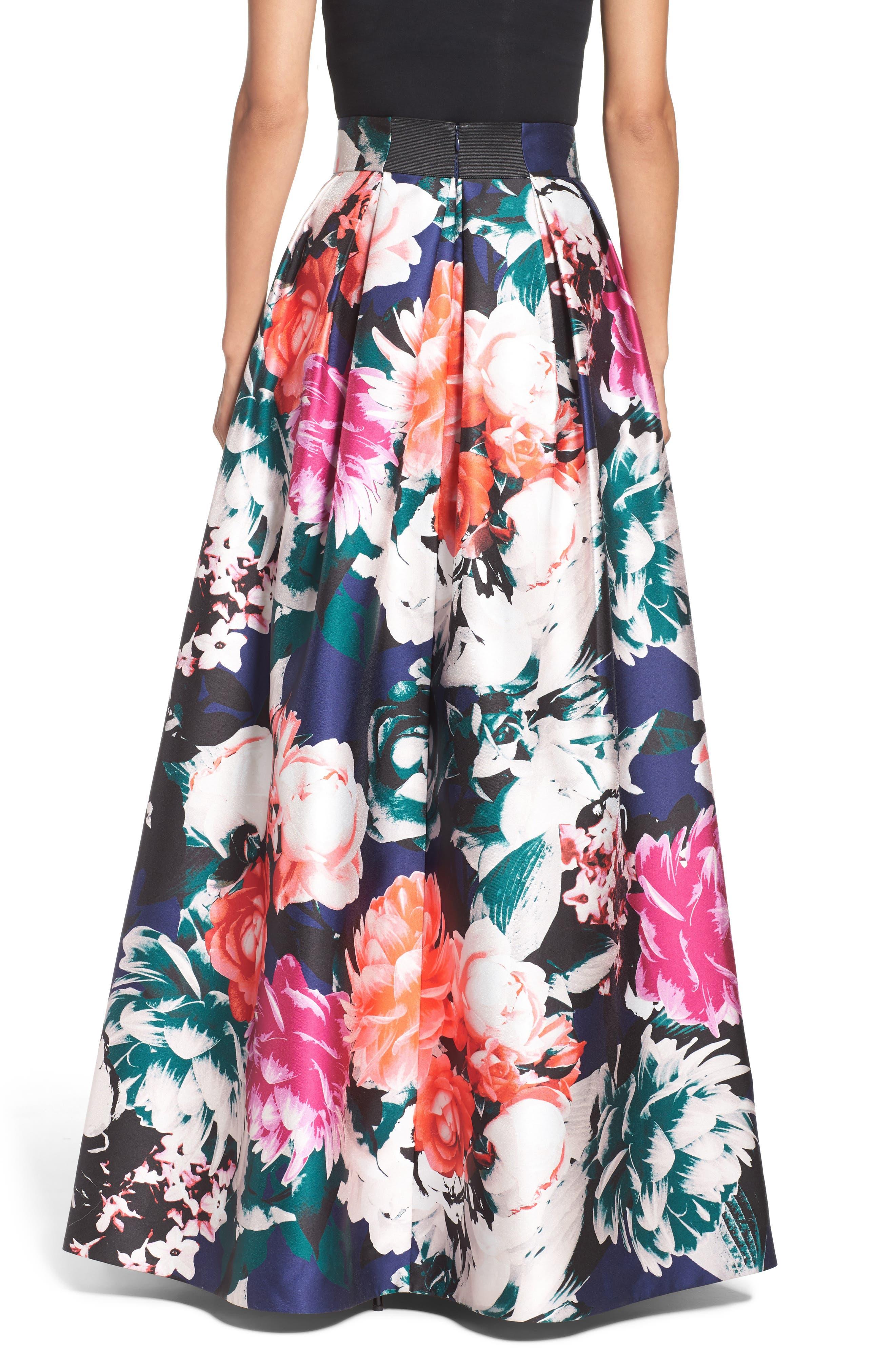 Alternate Image 2  - Eliza J Floral Ball Skirt