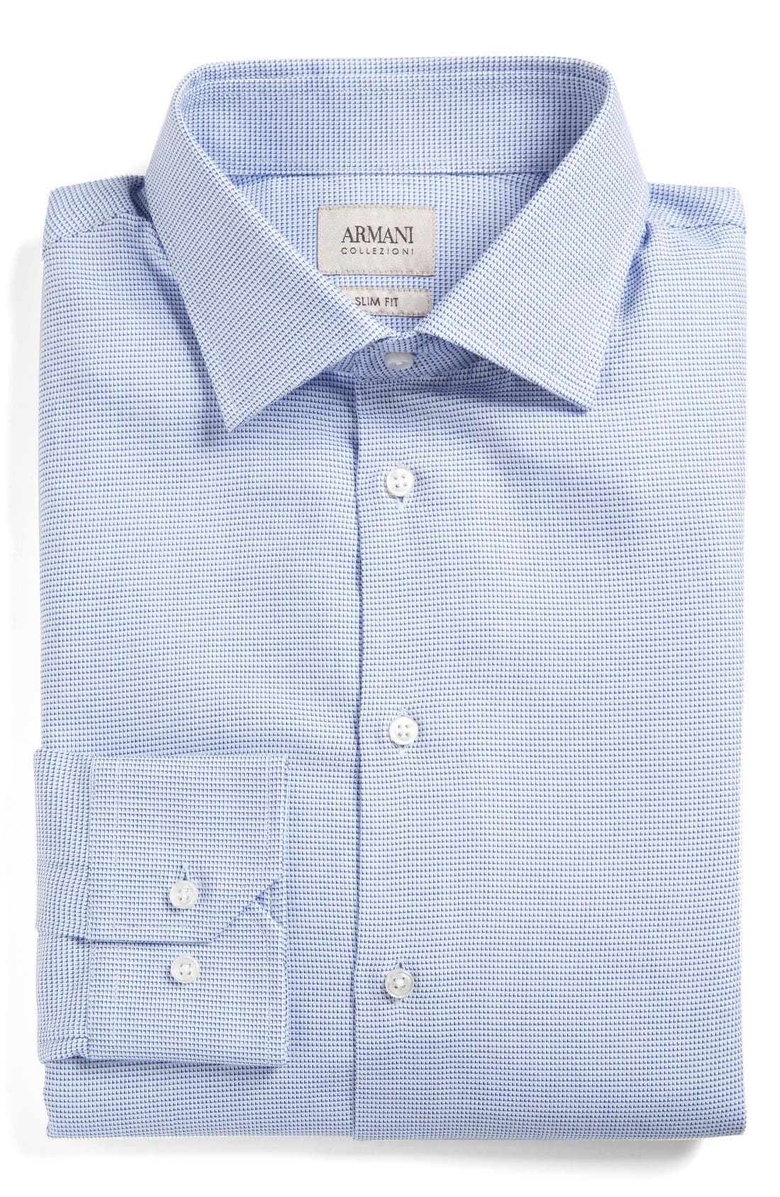 ARMANI COLLEZIONI Slim Fit Neat Dress Shirt
