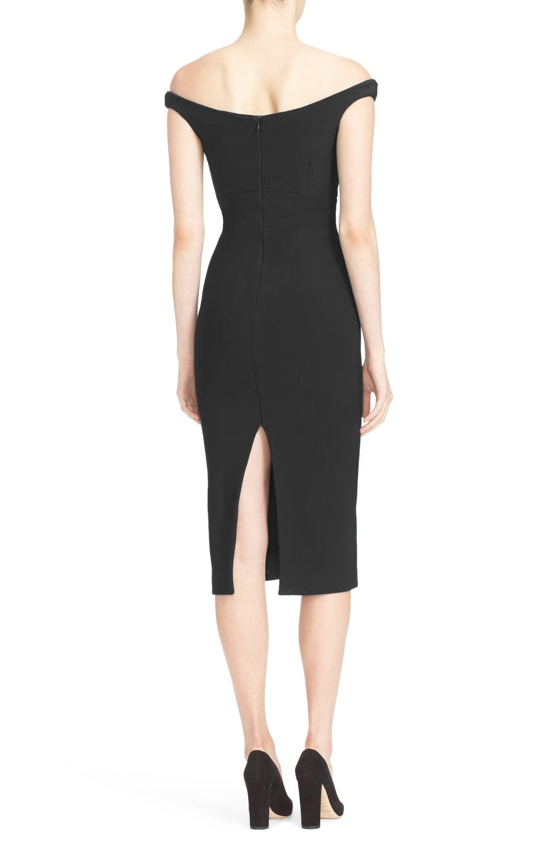 Alternate Image 2  - Cinq à Sept Garnet Off the Shoulder Dress