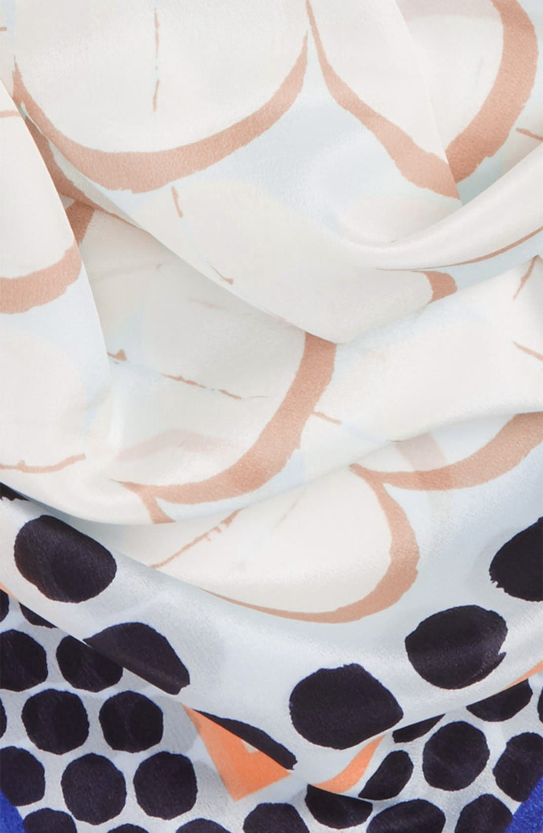 Alternate Image 3  - Halogen® Downtown Dots Square Silk Scarf