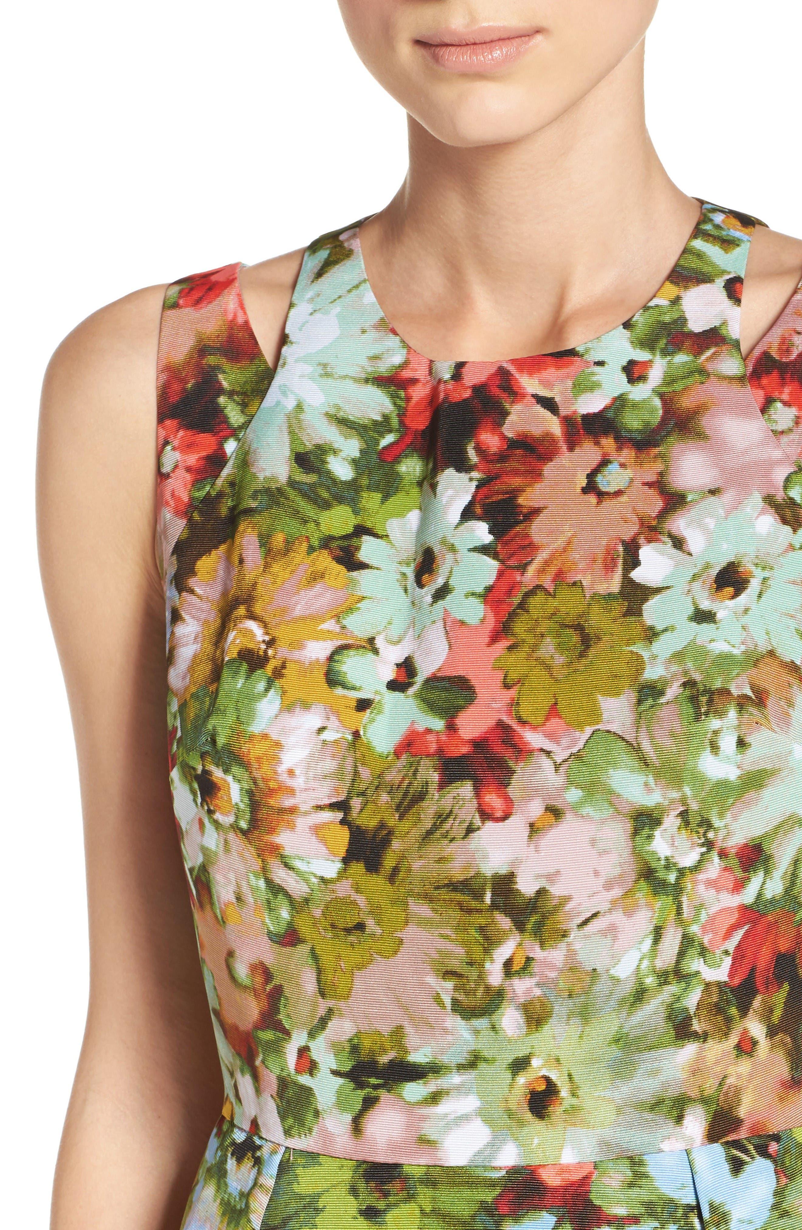 Alternate Image 5  - Taylor Dresses Vintage Floral Fit & Flare Dress