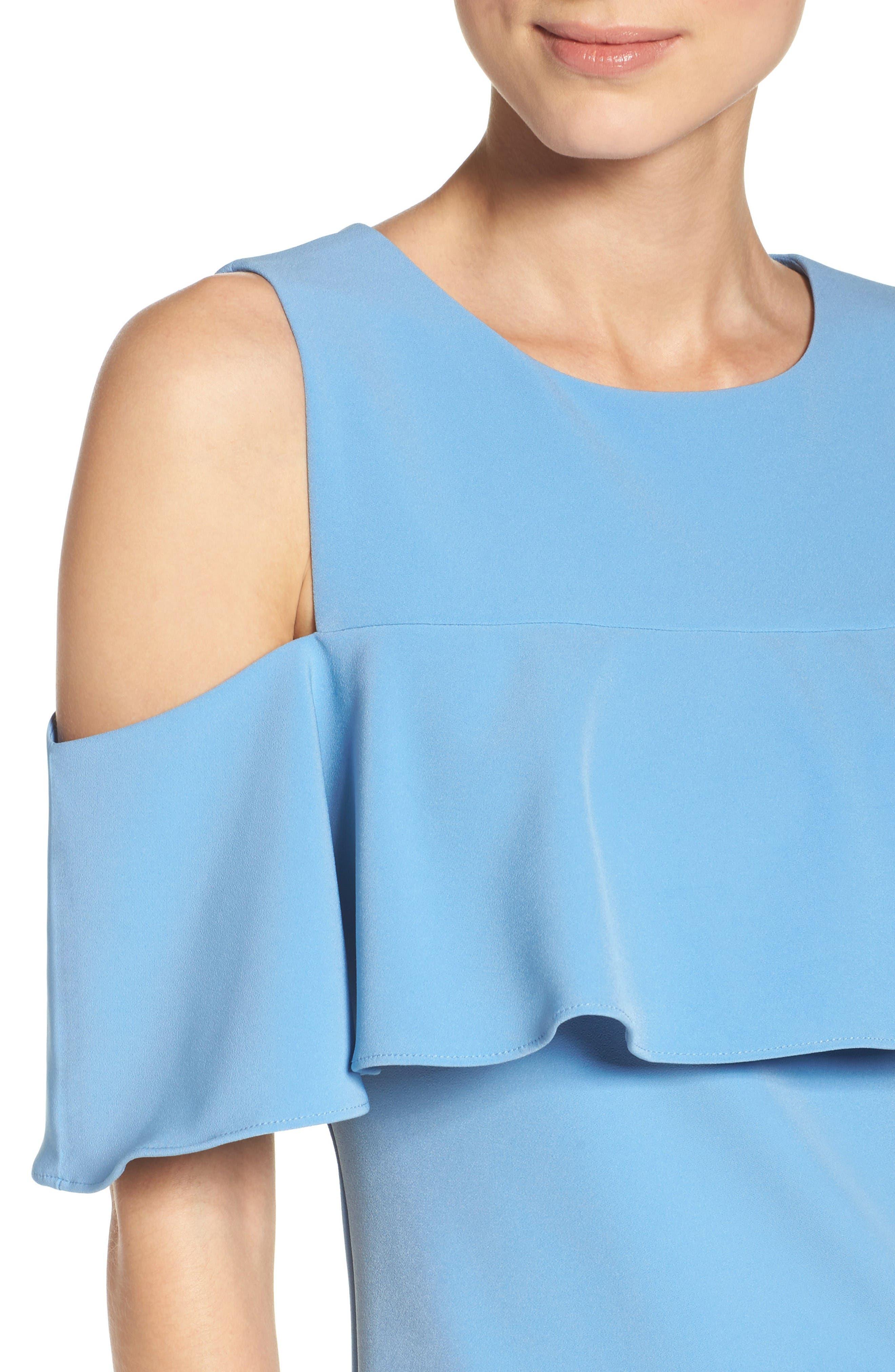 Alternate Image 5  - Taylor Dresses Cold Shoulder Sheath Dress