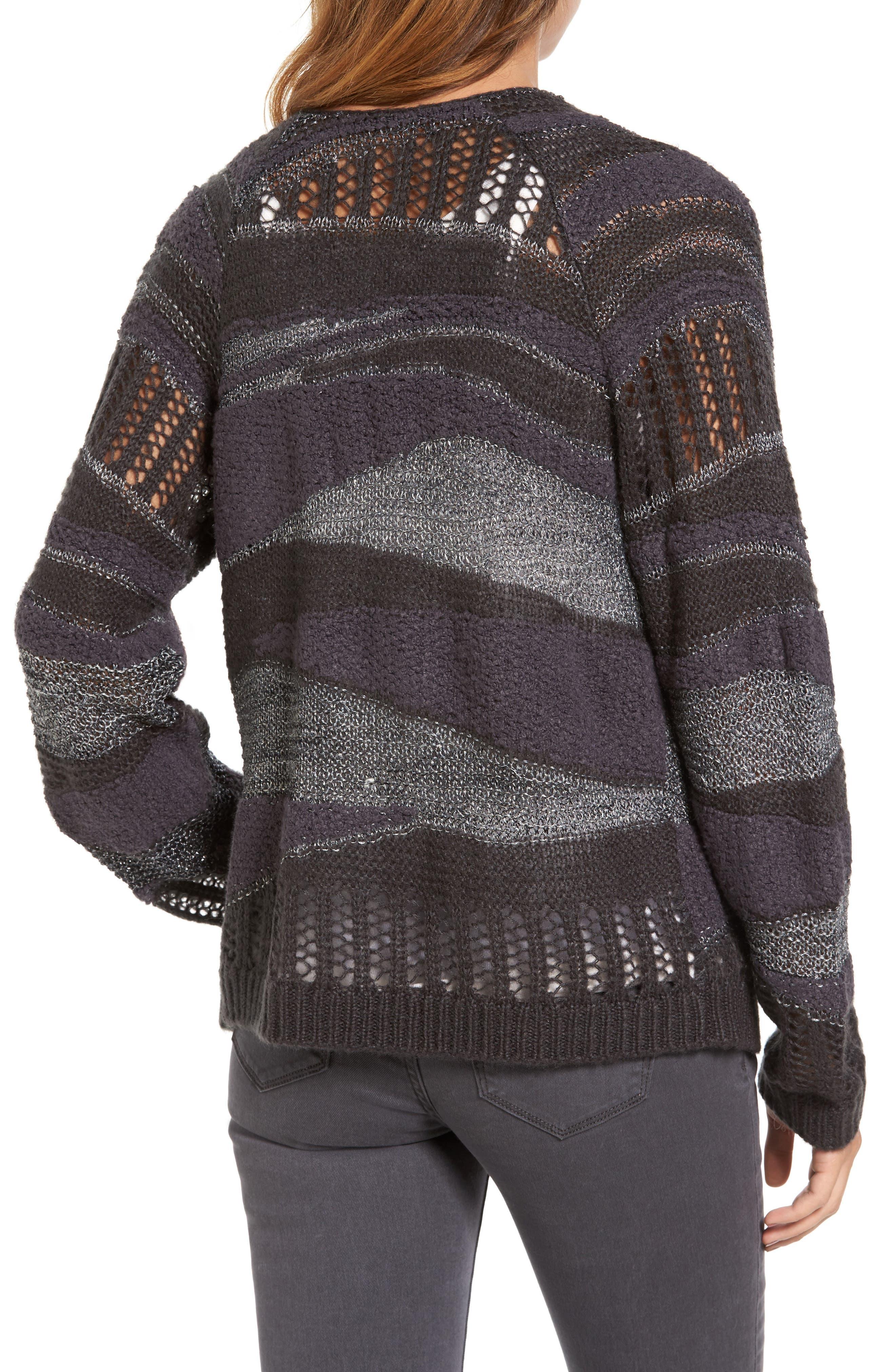 Alternate Image 2  - Hinge Mixed Stripe Cardigan