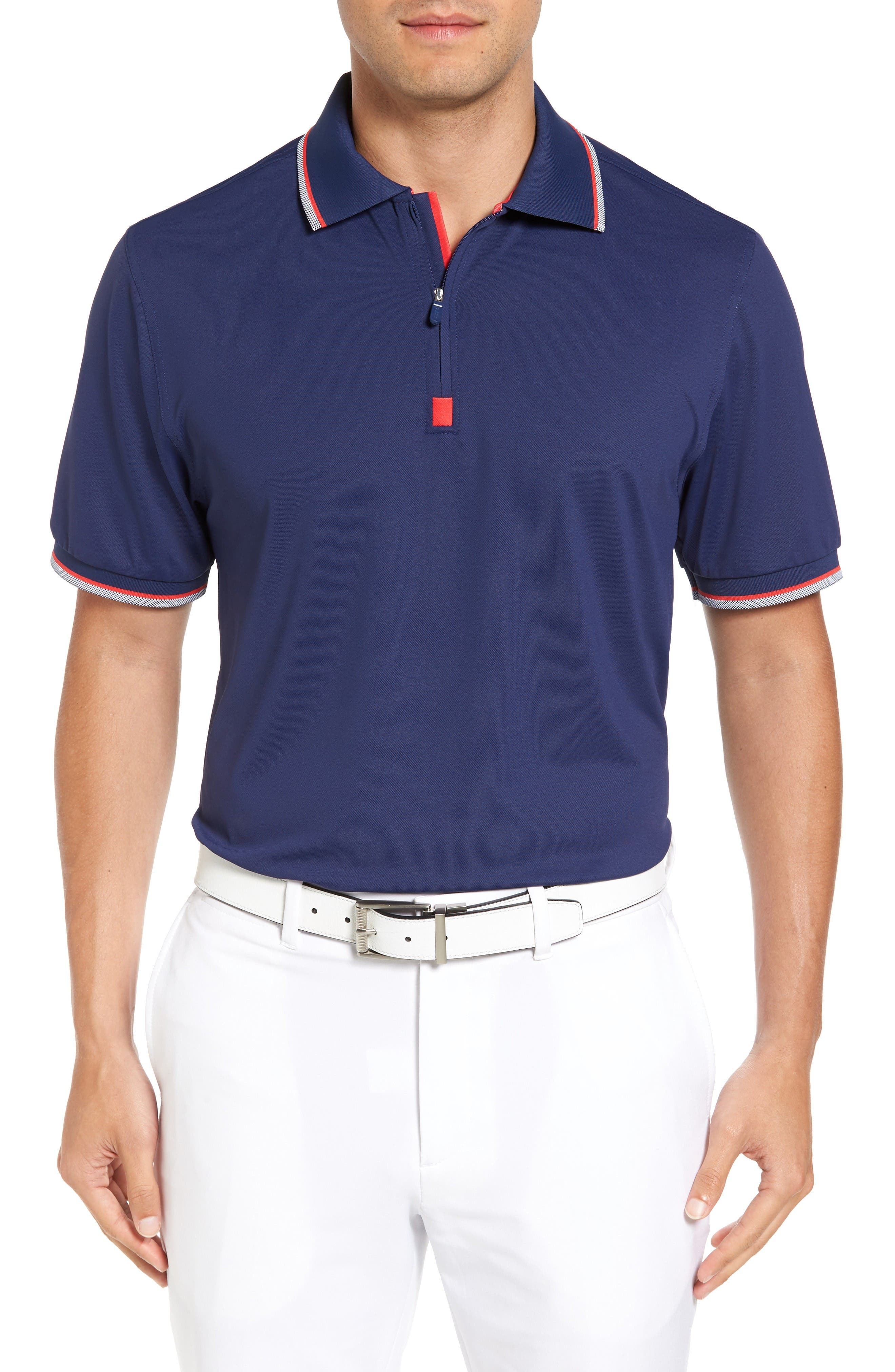 BOBBY JONES XH20 Solid Stretch Golf Polo