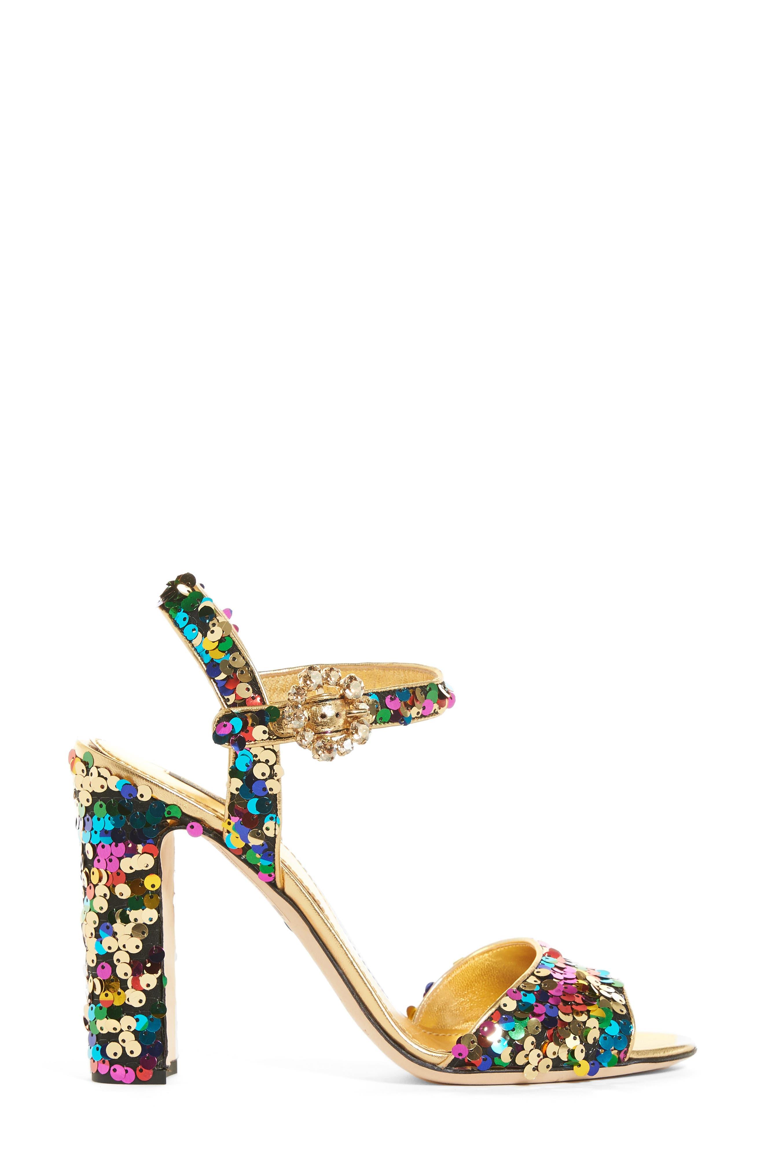 Alternate Image 4  - Dolce&Gabbana Sequin Sandal (Women)