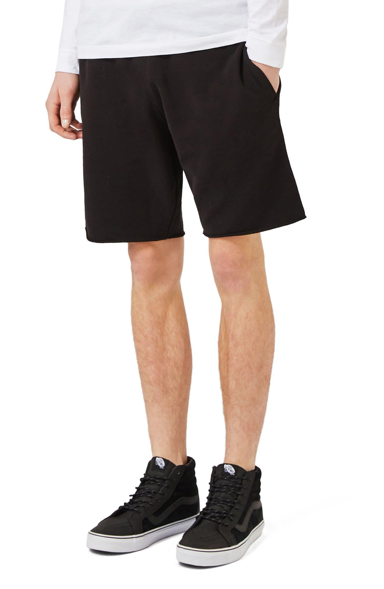 Topman Cutoff Jersey Shorts