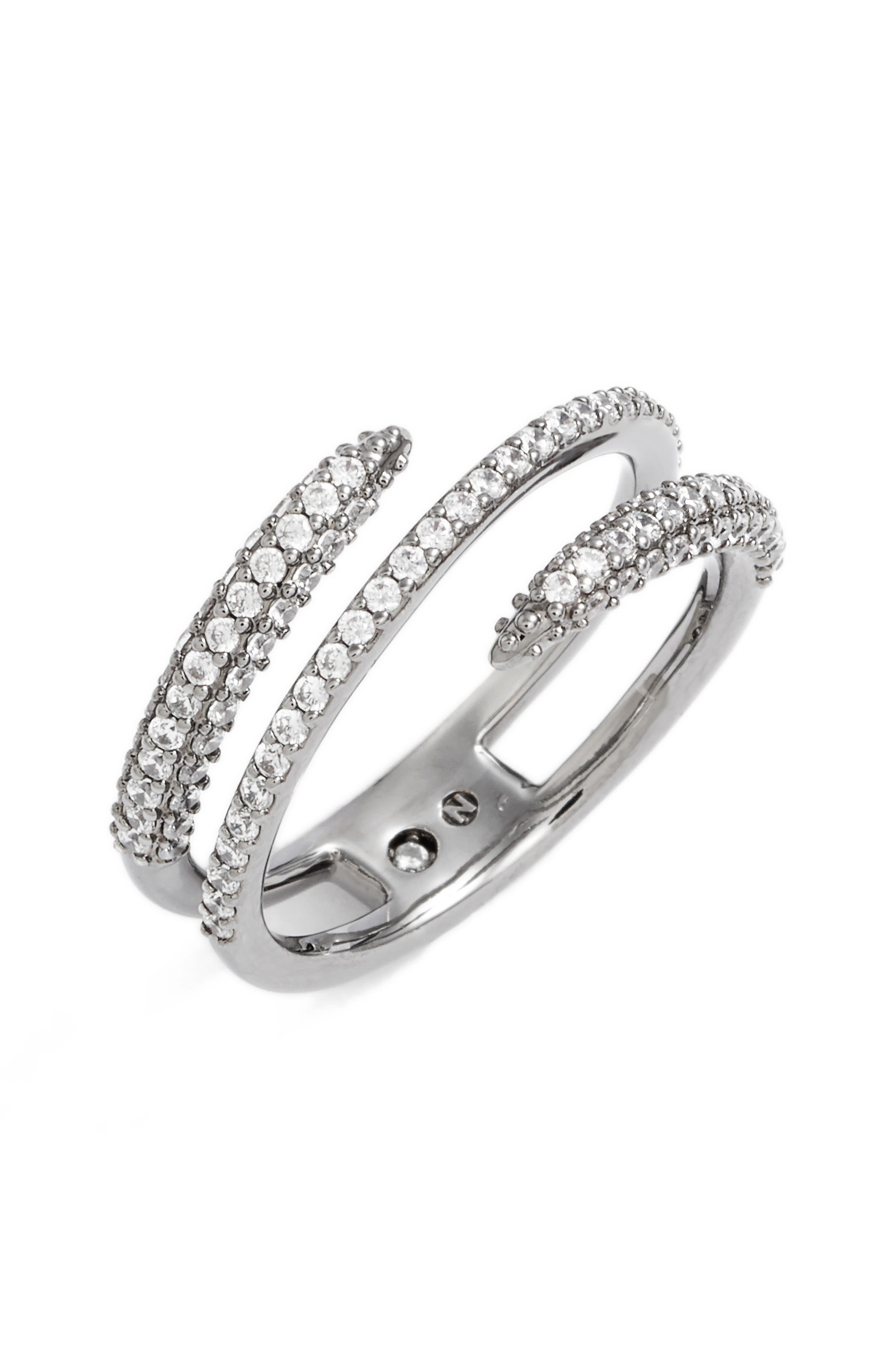 Nadri Kate Pavé Coil Ring