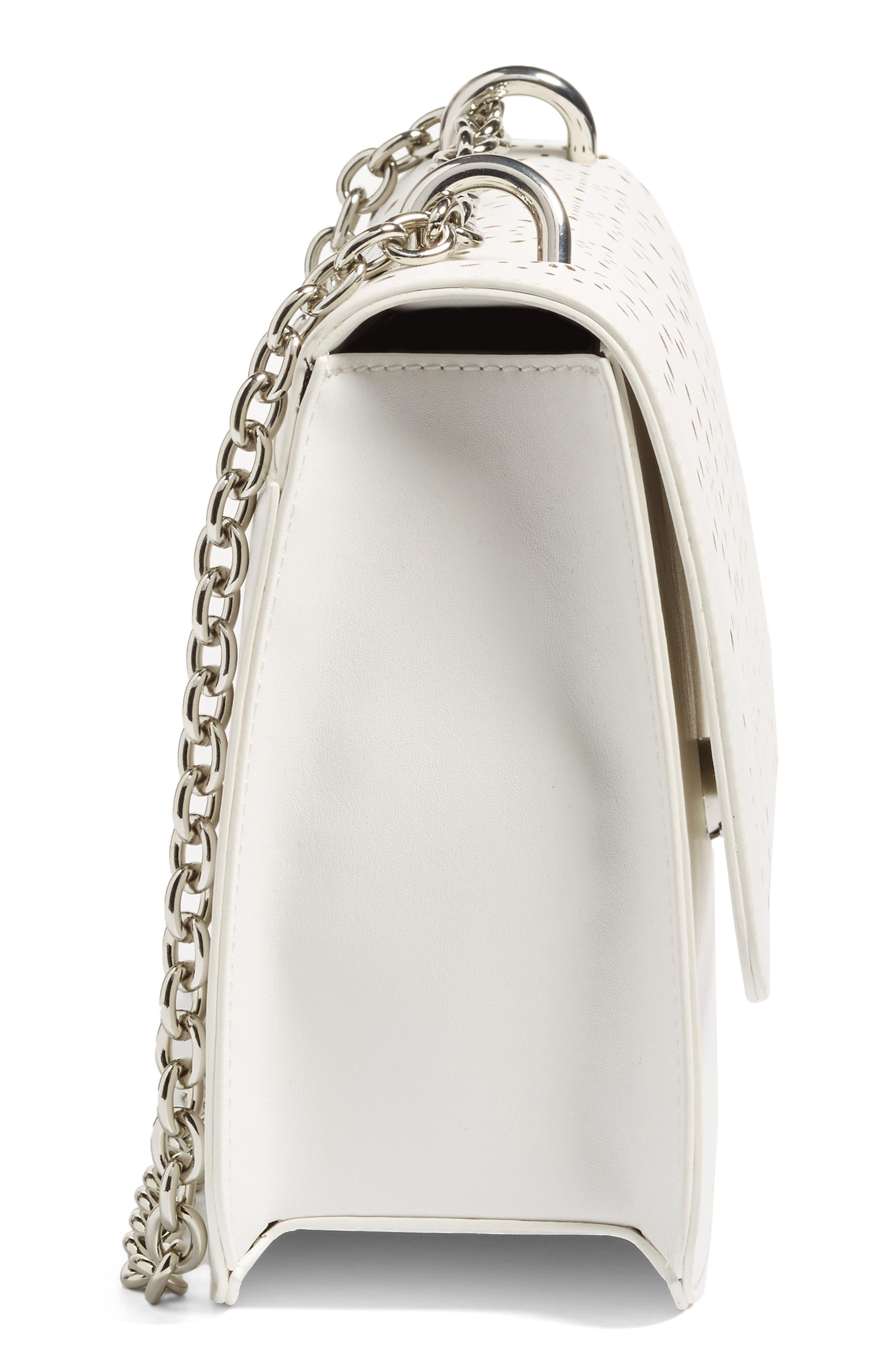 Alternate Image 5  - Chelsea28 Dahlia Perforated Faux Leather Shoulder Bag