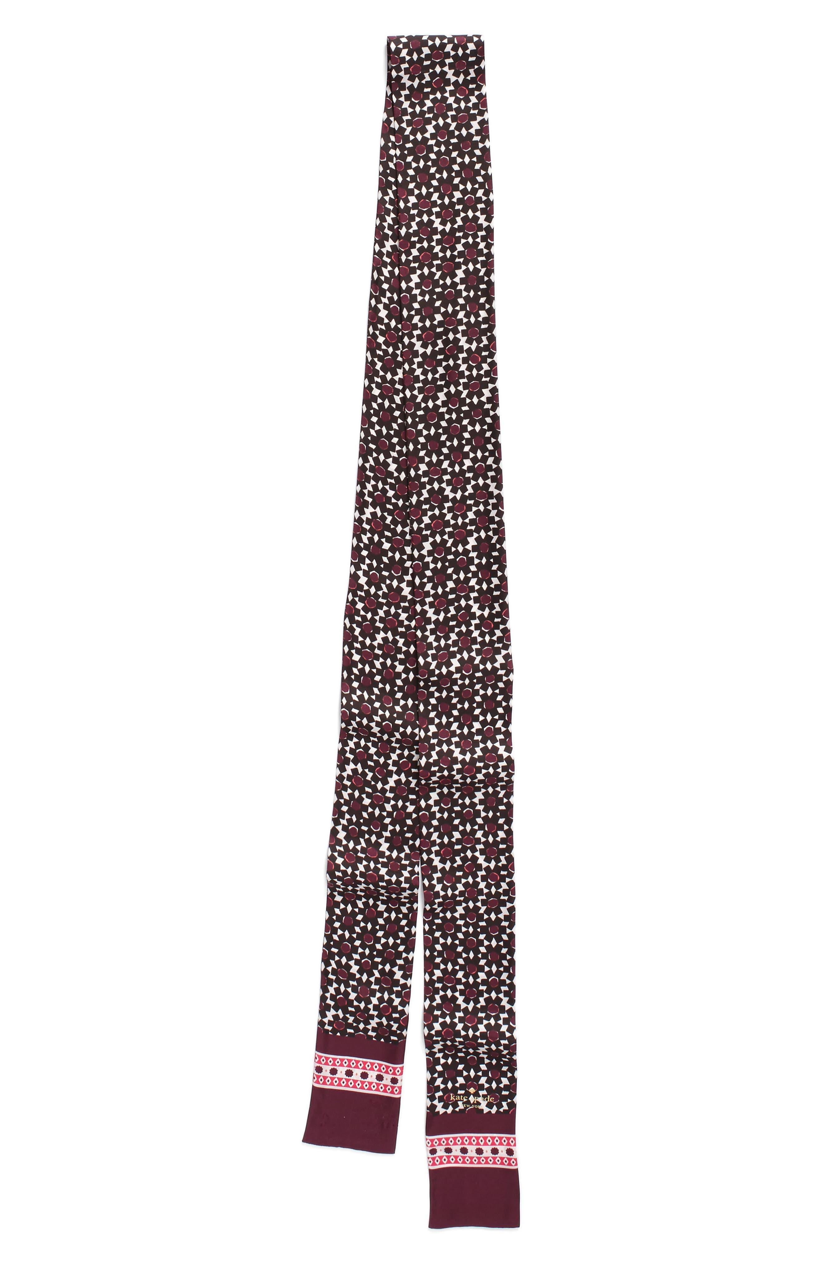 Alternate Image 2  - kate spade new york floral tile silk skinny scarf