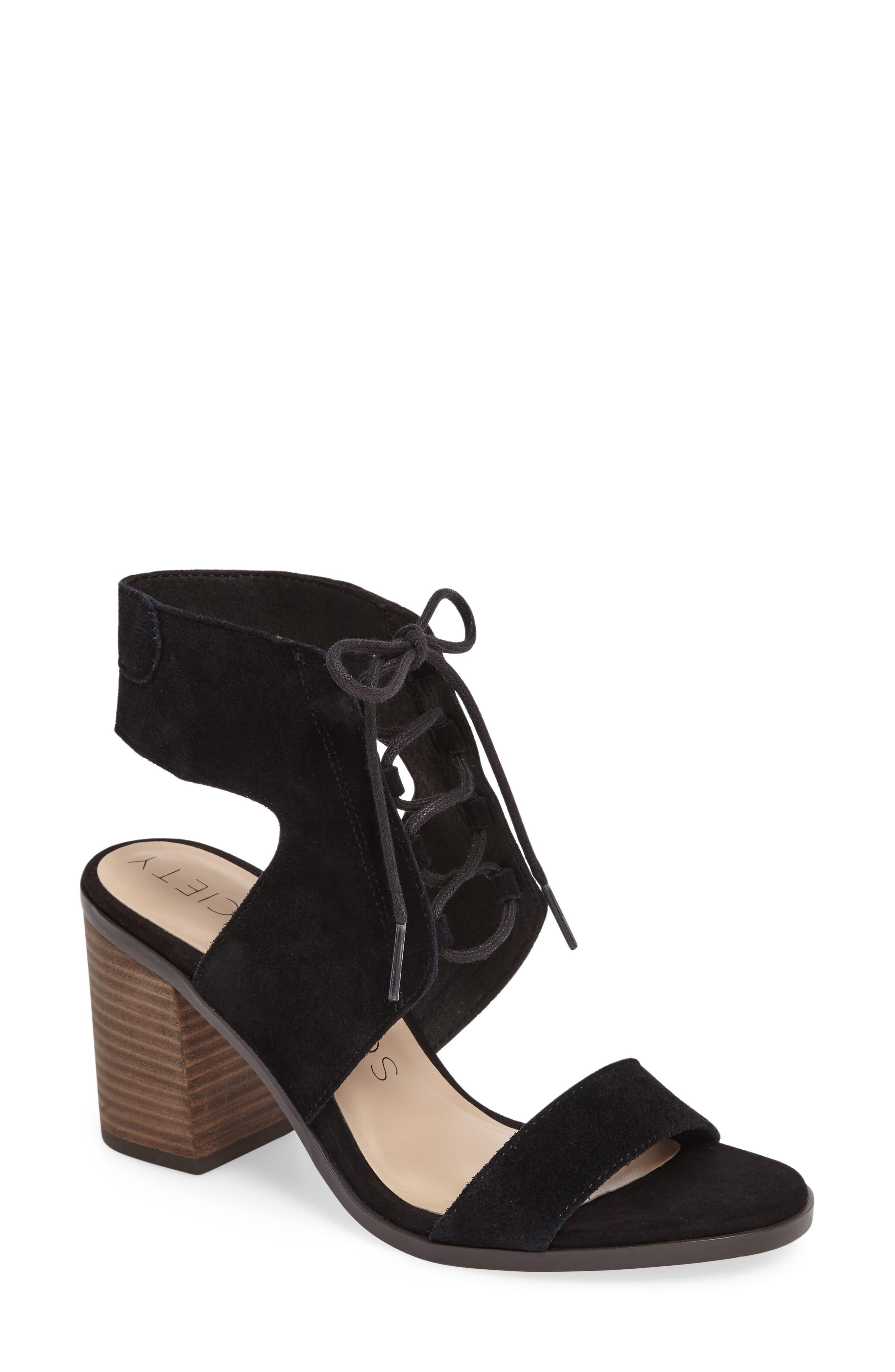 Alternate Image 1 Selected - Sole Society Auburn Lace-Up Sandal (Women)