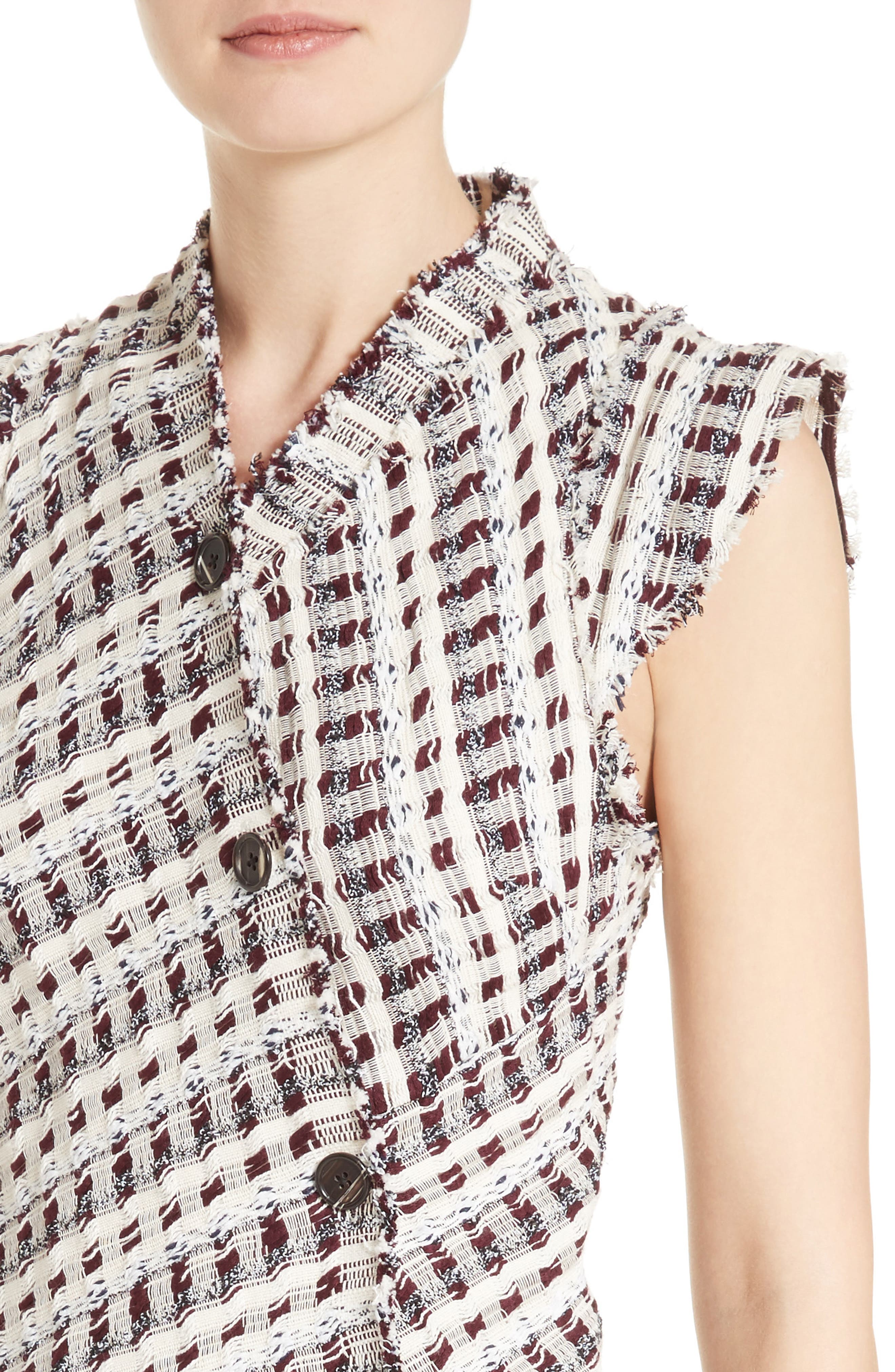 Alternate Image 6  - Proenza Schouler Asymmetrical Tweed Dress