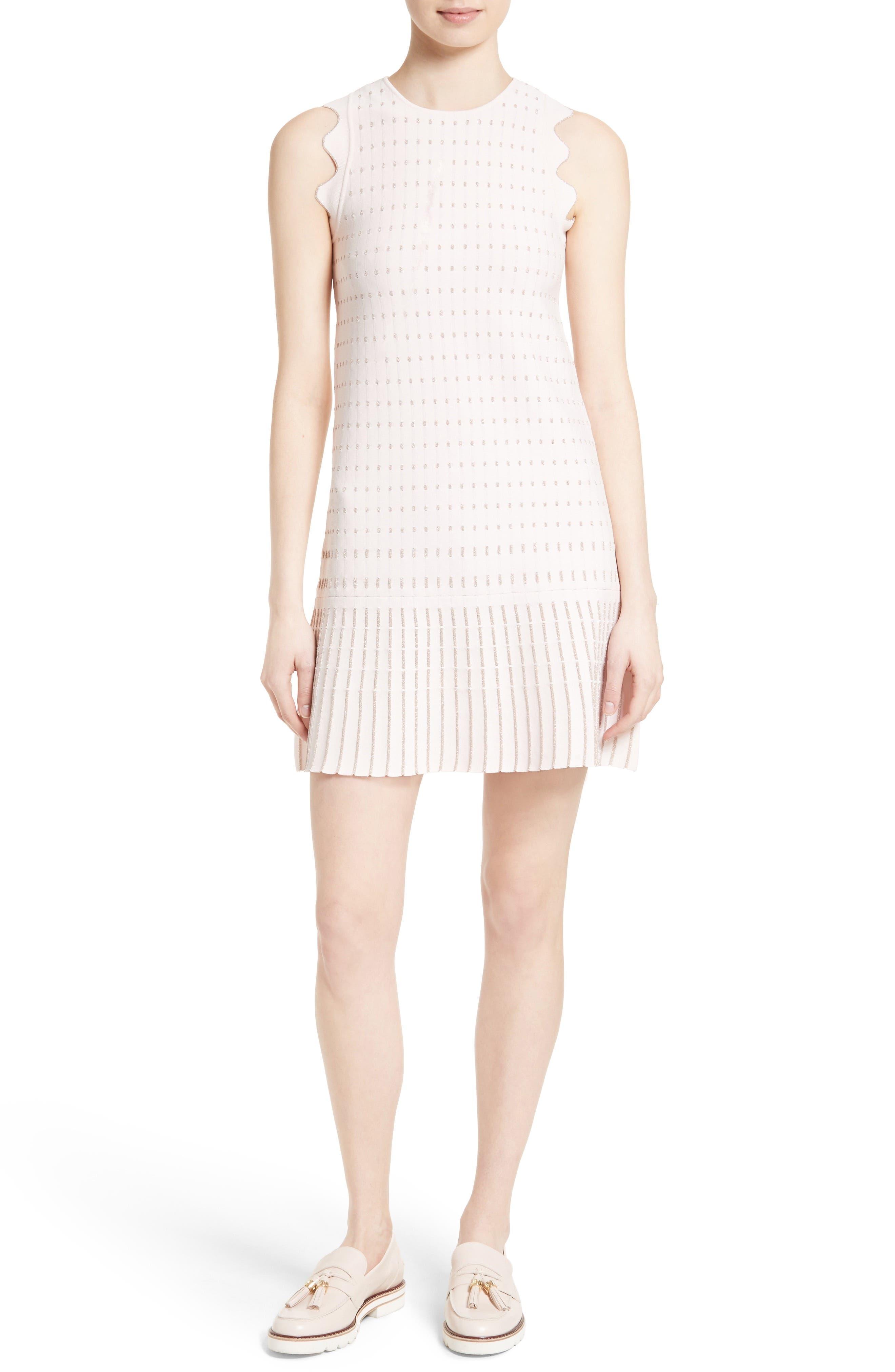 Ted Baker London Relioa Metallic Jacquard Knit Dress