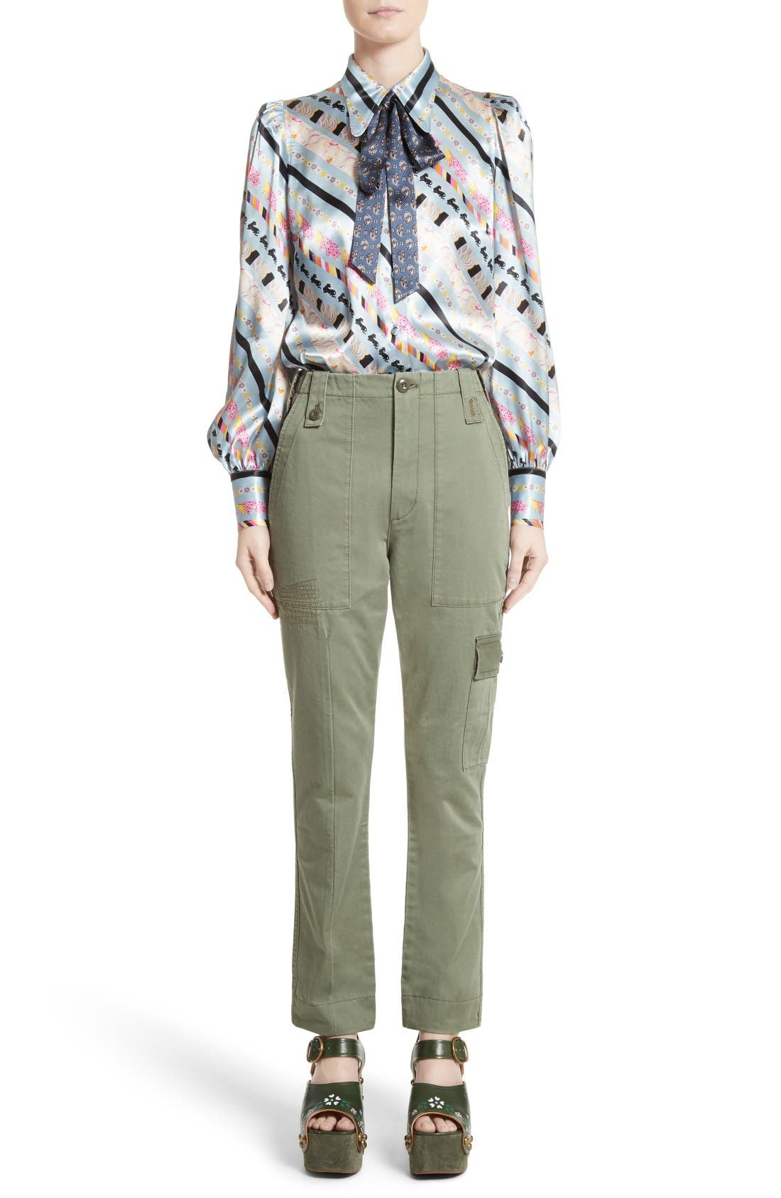 Alternate Image 7  - MARC JACOBS Doing Dishes Satin Tie Neck Blouse