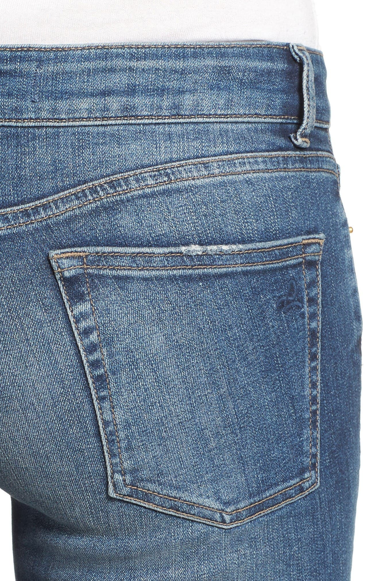 Alternate Image 4  - DL1961 Florence Instasculpt Skinny Jeans (Wicked)
