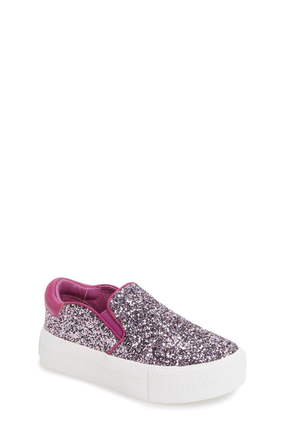 Ash Lynn Glitter Platform Slip-On Sneaker (Toddler, Little Kid & Big Kid)