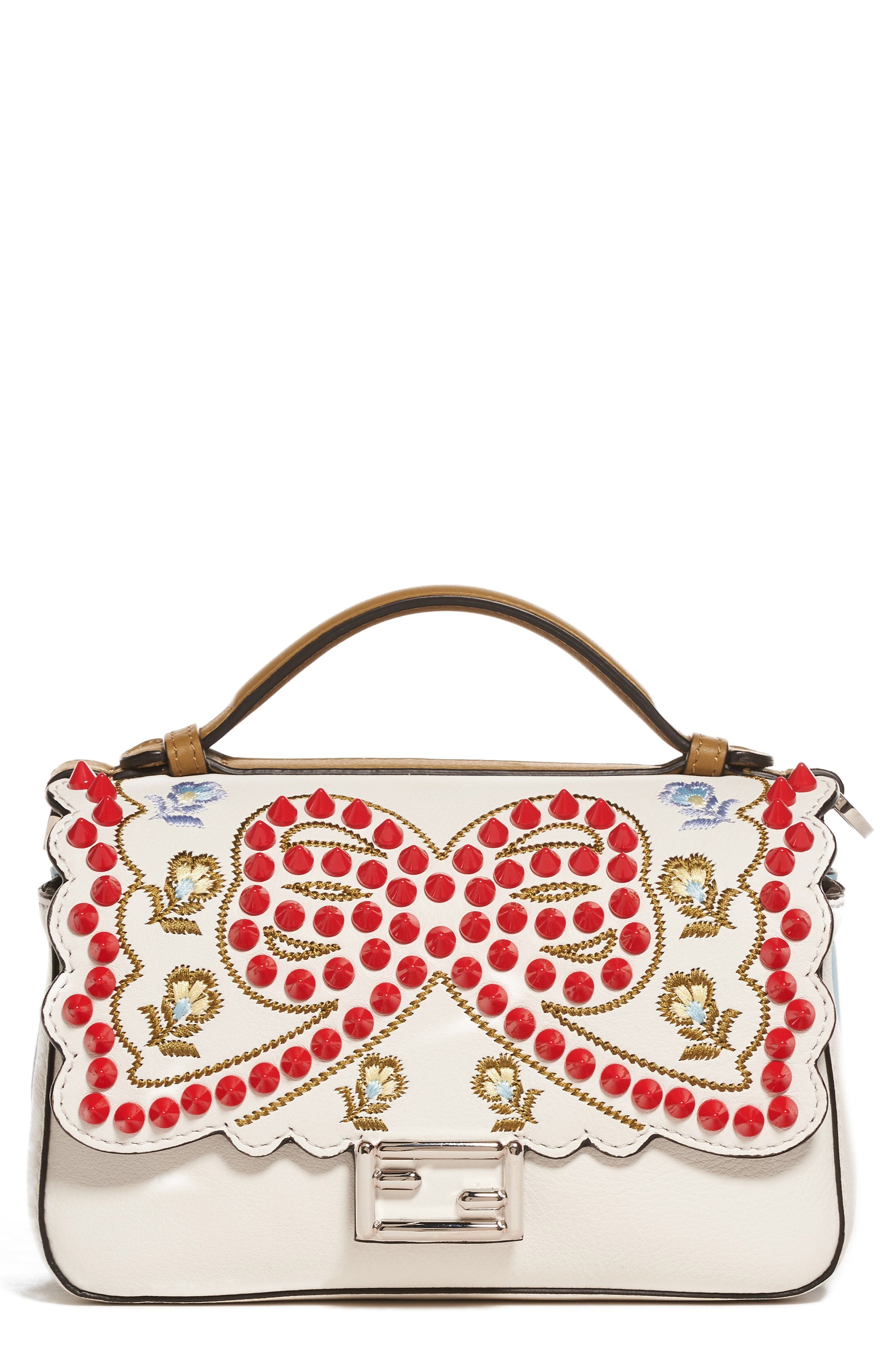 Alternate Image 1 Selected - Fendi Double Micro Studded Leather Baguette