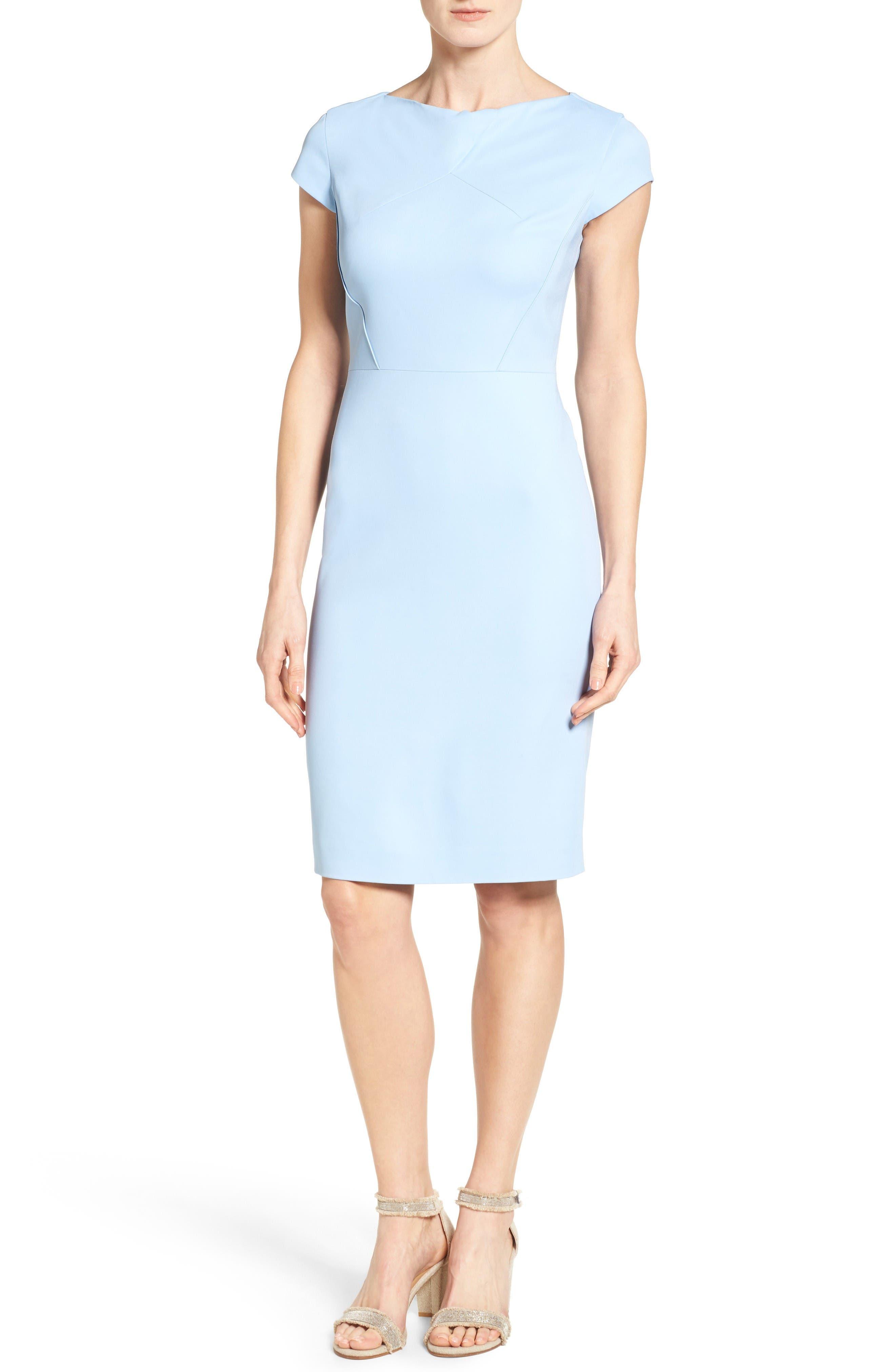 Classiques Entier® Drape Neck Sheath Dress