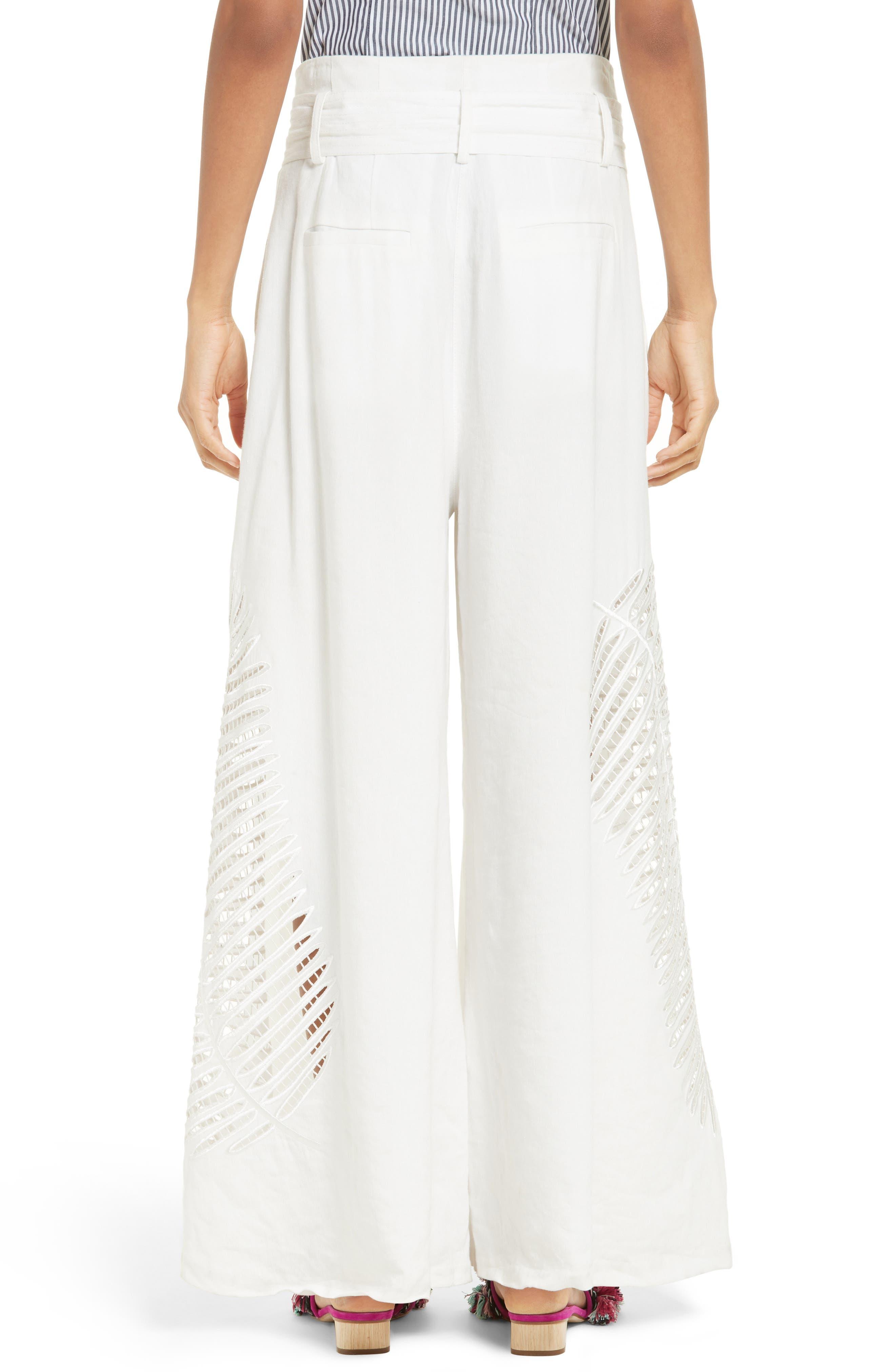 Alternate Image 2  - Tanya Taylor Lulu Palm Embroidered Pants