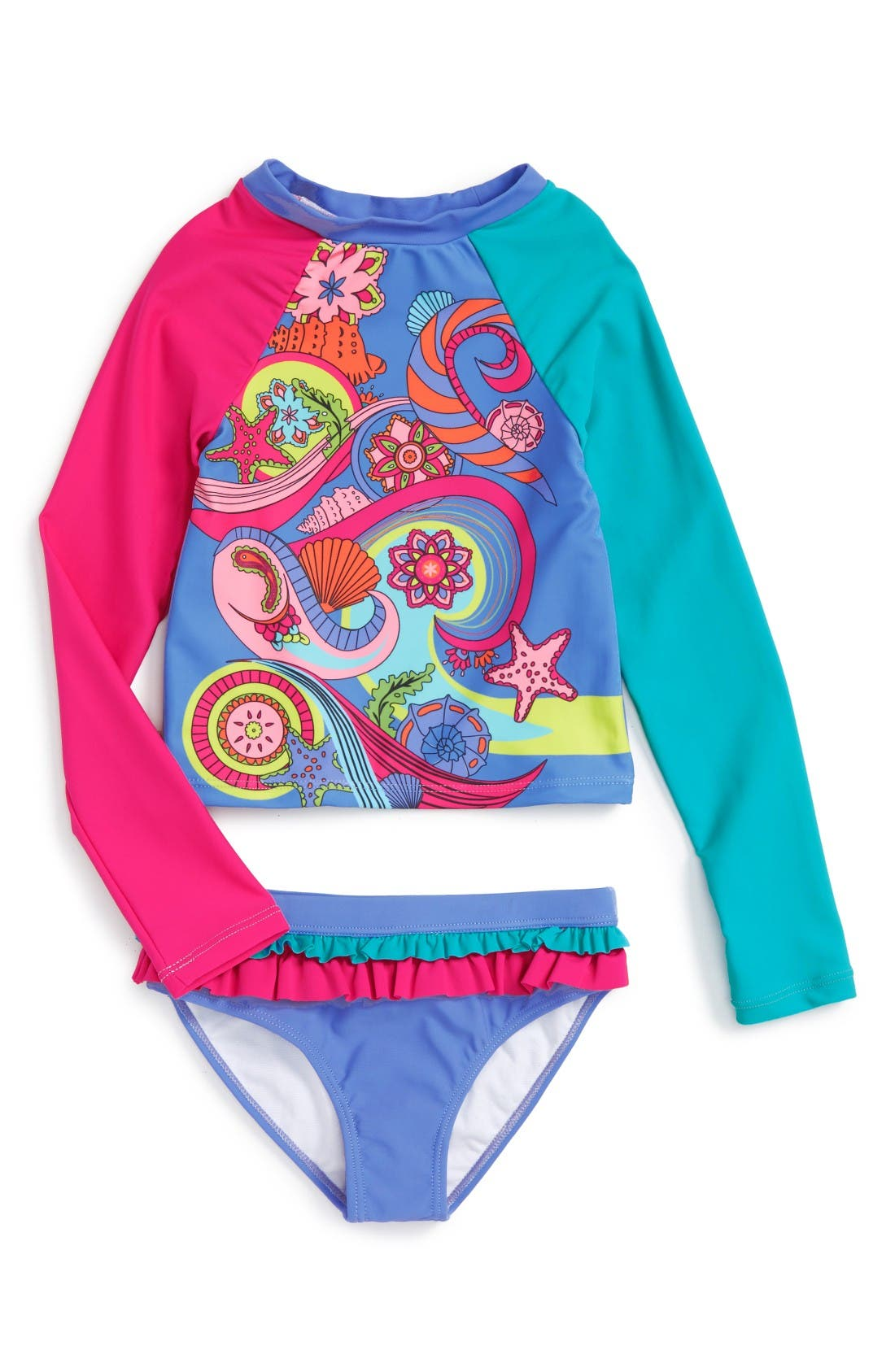 LIMEAPPLE Trixie Two-Piece Rashguard Swimsuit