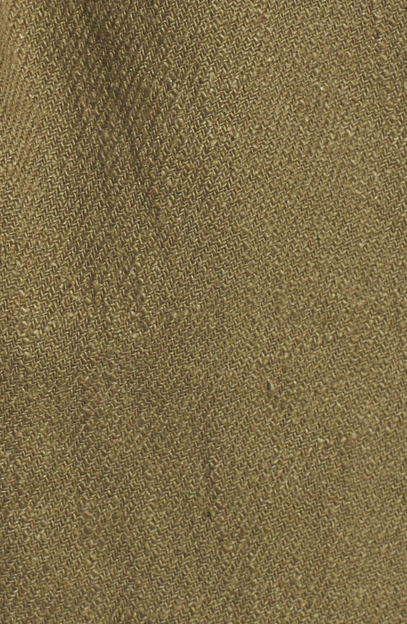 Alternate Image 6  - MOON RIVER High Waist Linen & Cotton Shorts