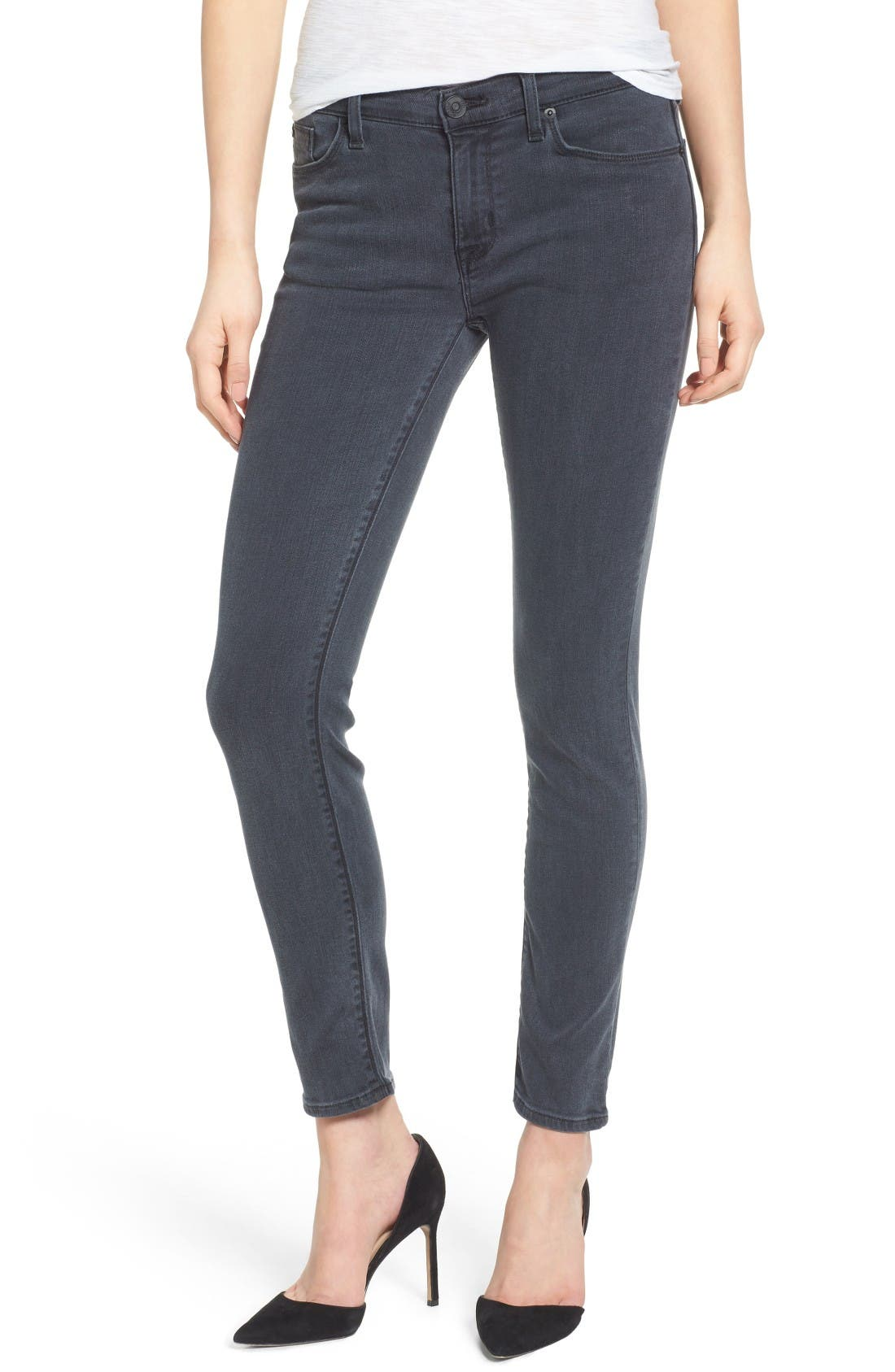 Main Image - Hudson Jeans Collette Ankle Skinny Jeans (Penumbra)