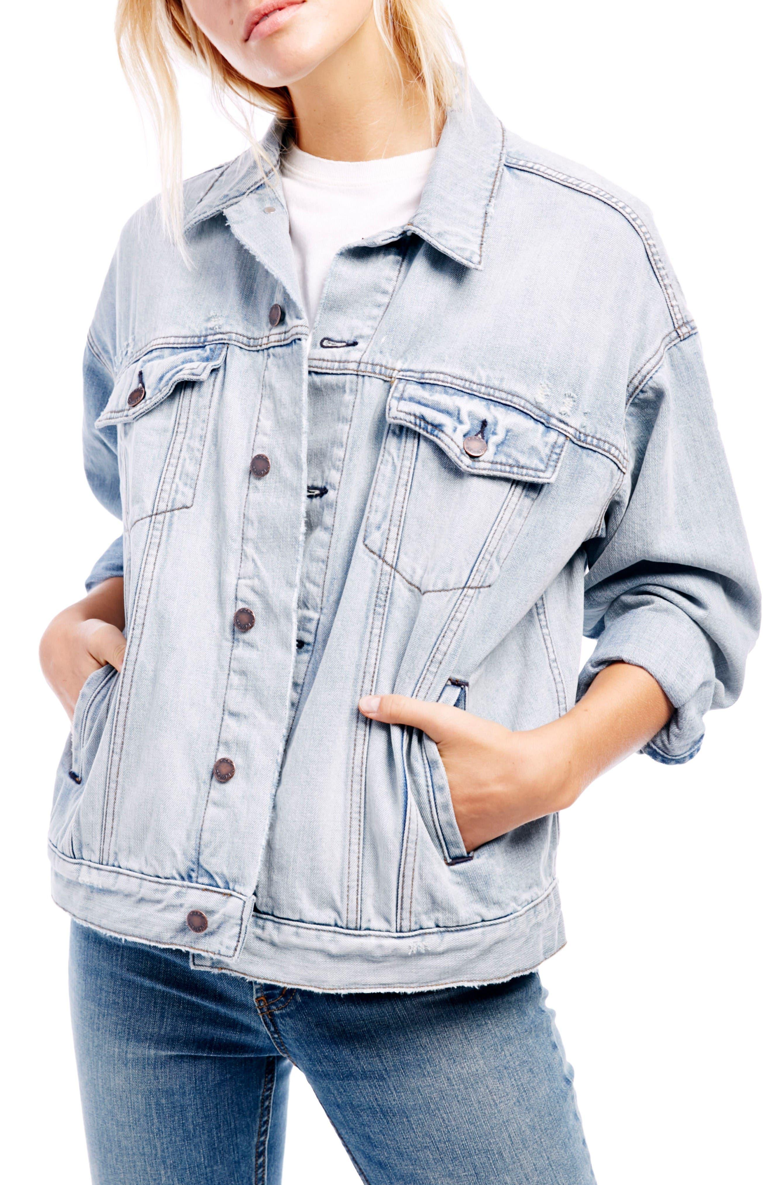 Alternate Image 1 Selected - Free People Denim Trucker Jacket