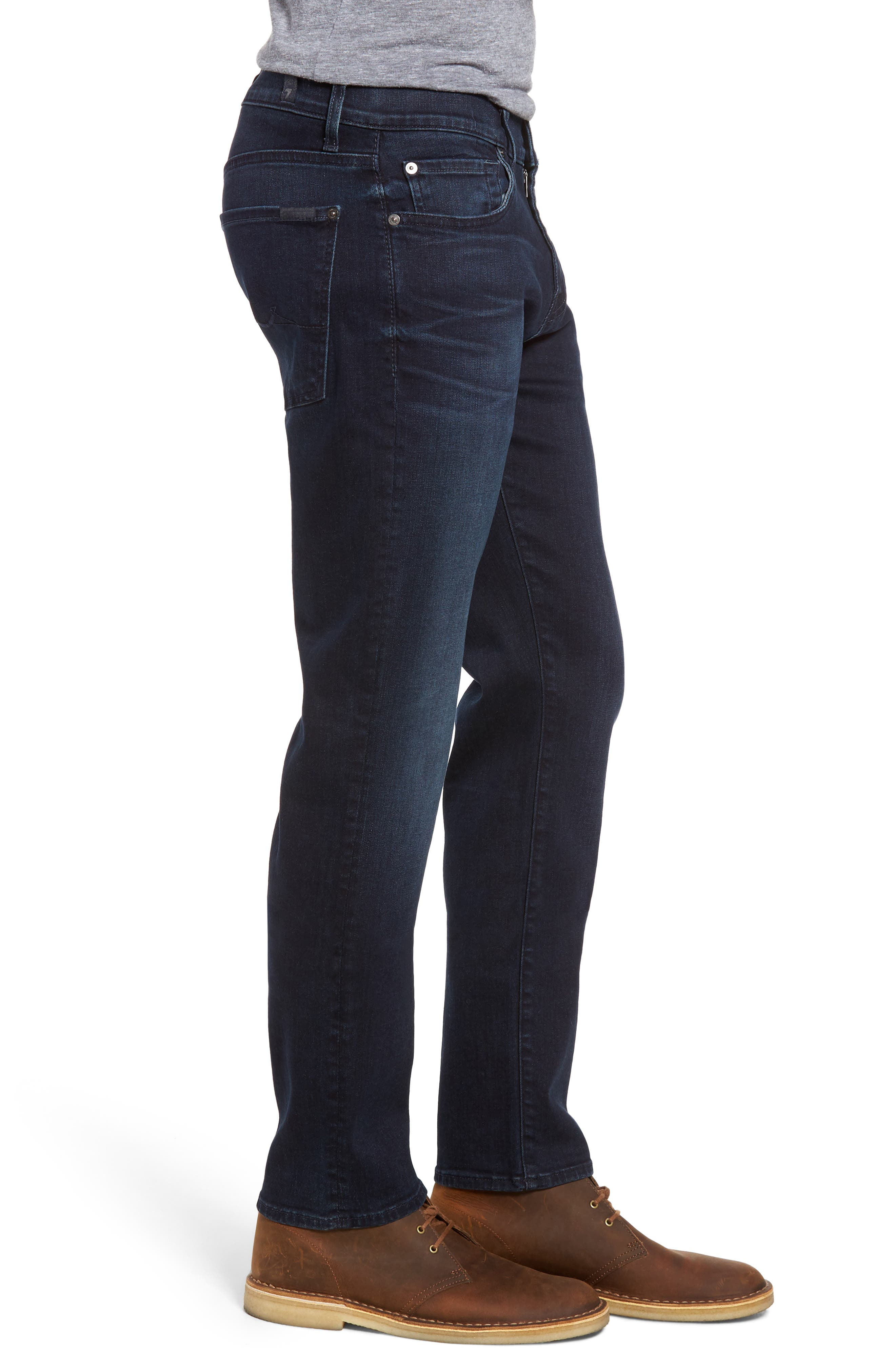 Alternate Image 3  - 7 For All Mankind® Slimmy Luxe Performance Slim Fit Jeans (Tidal Wave)