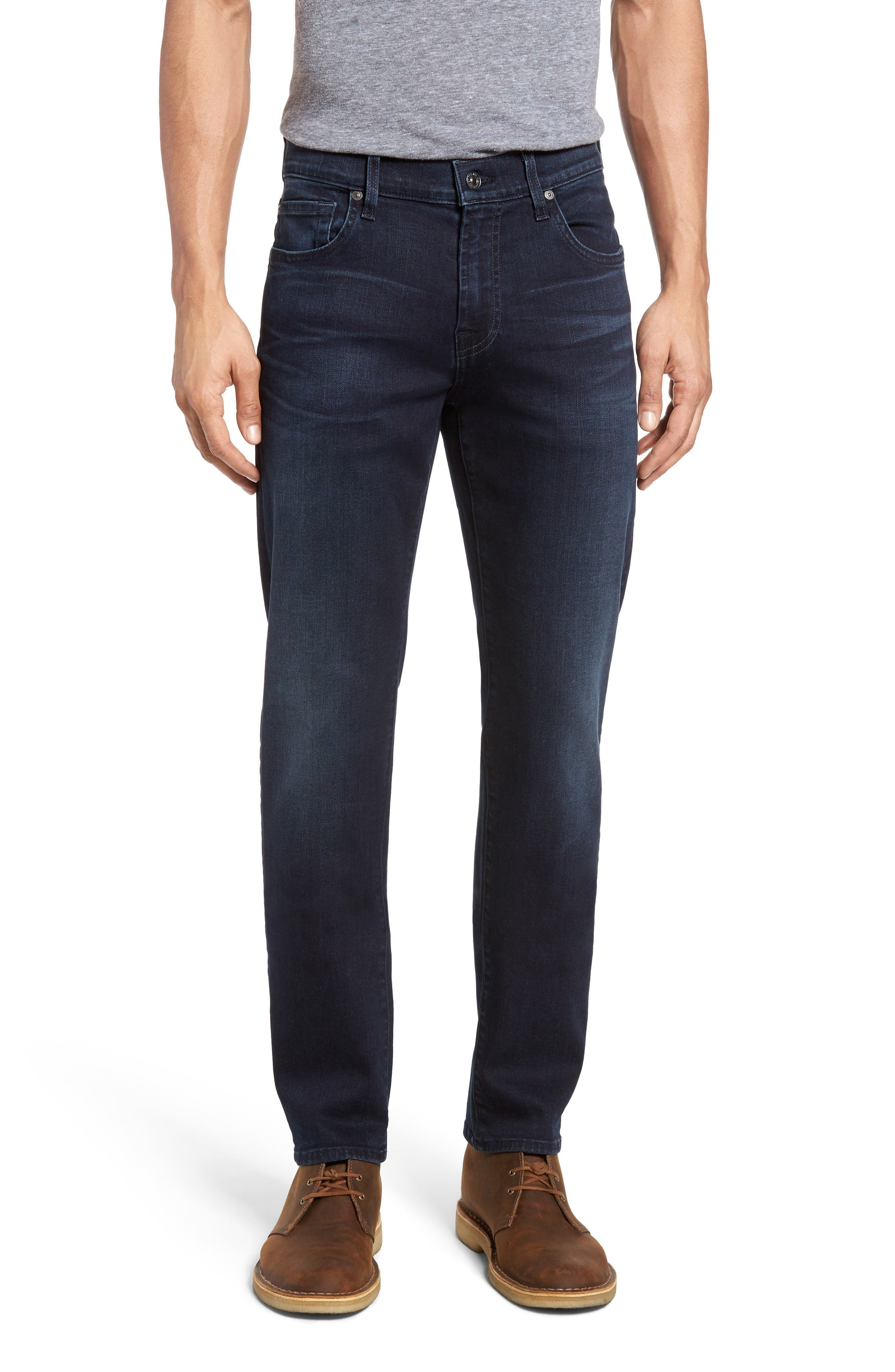 Main Image - 7 For All Mankind® Slimmy Luxe Performance Slim Fit Jeans (Tidal Wave)