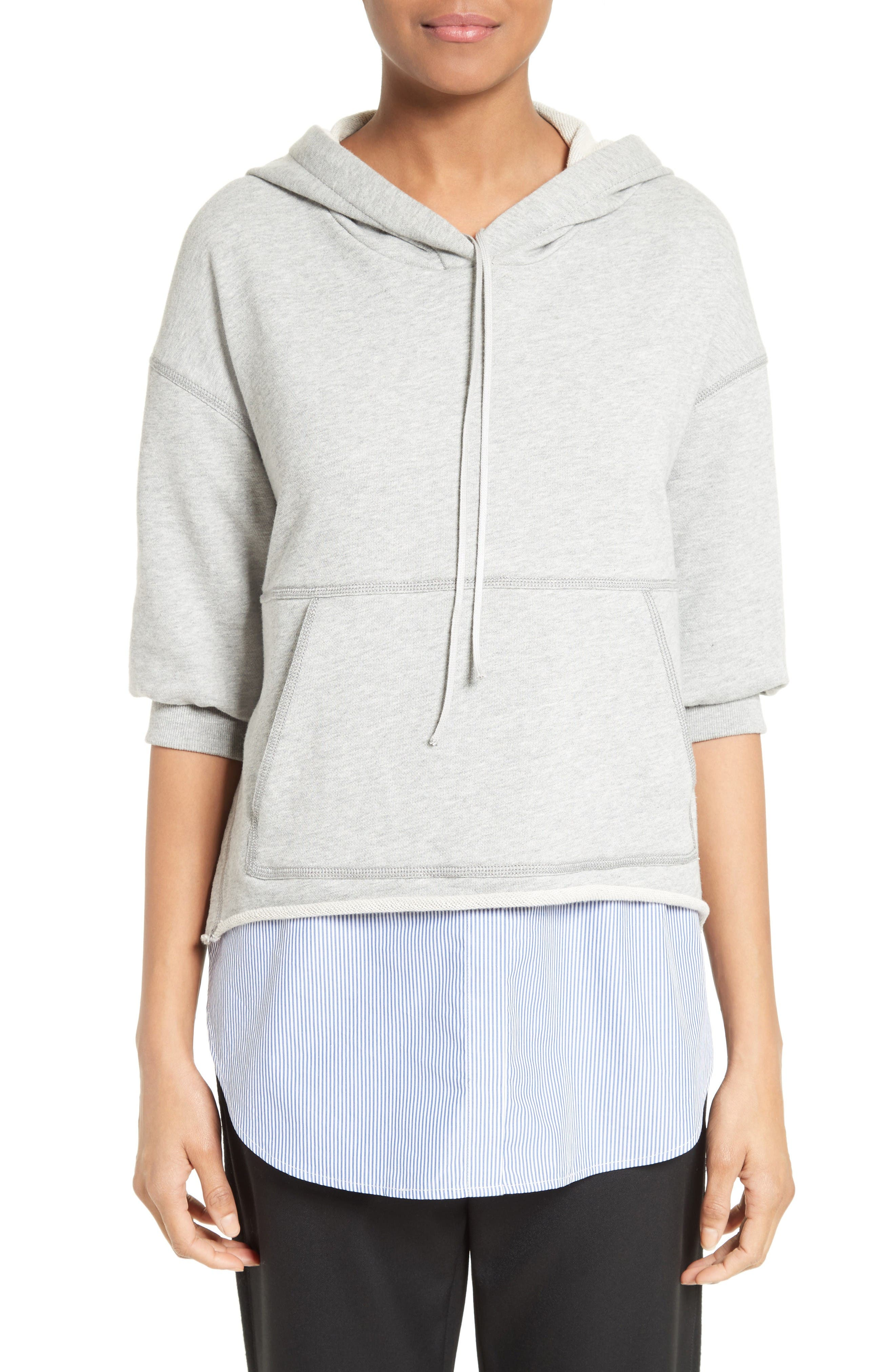 3.1 PHILLIP LIM French Terry Combo Hoodie