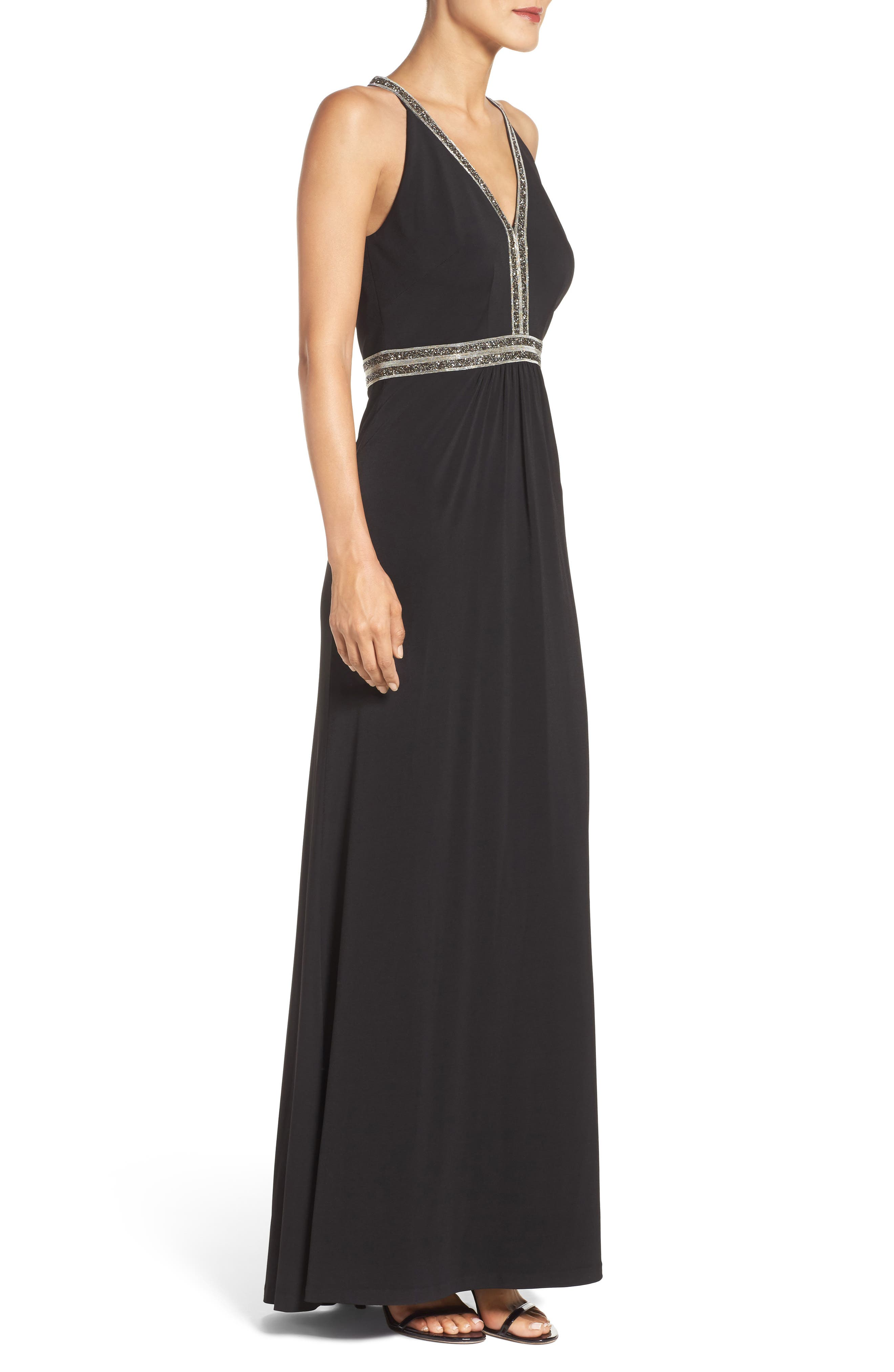 Alternate Image 3  - Vince Camuto Embellished Jersey Gown